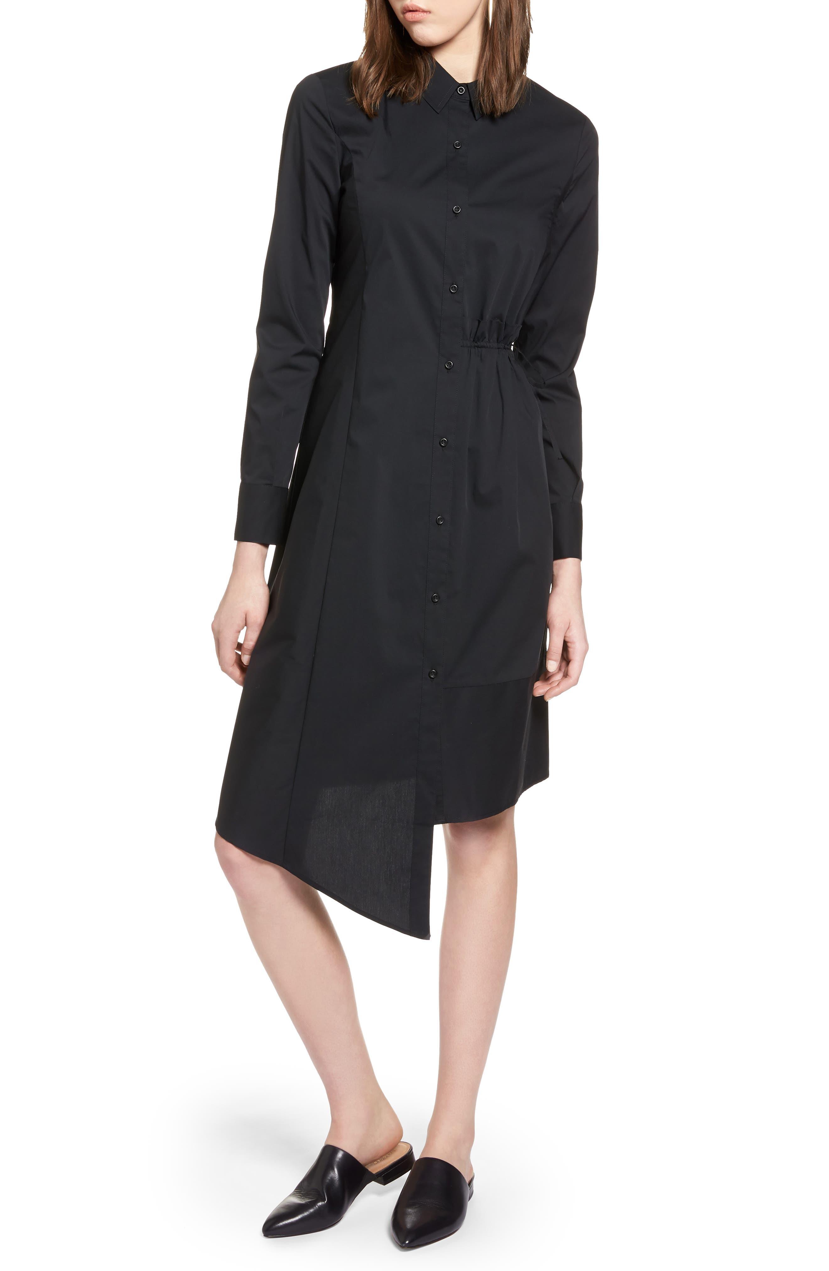 Poplin Shirtdress,                         Main,                         color, 001