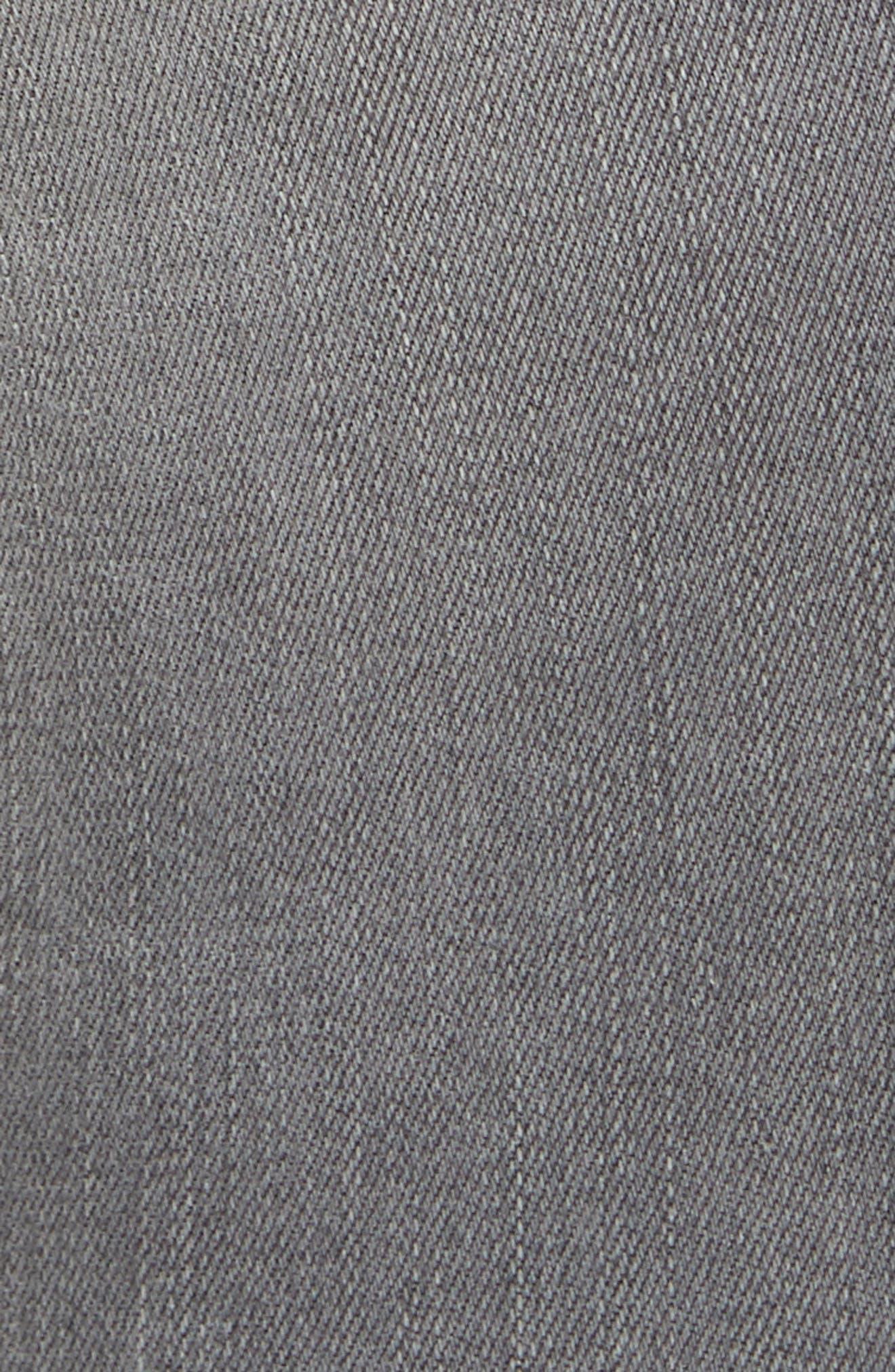 Le High Velvet Tuxedo Stripe Ankle Skinny Jeans,                             Alternate thumbnail 5, color,                             GRIMES