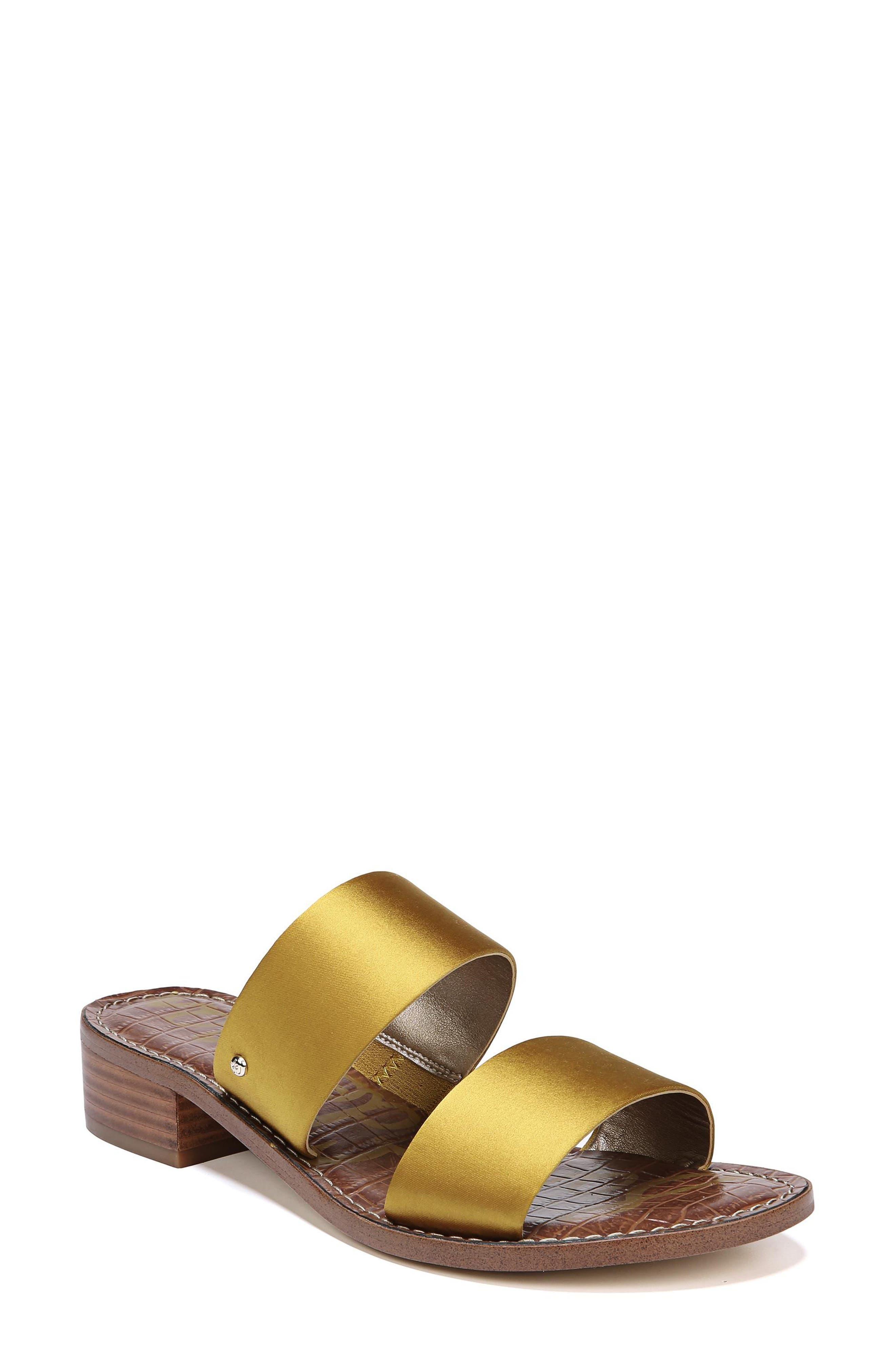 Jeni Sandal,                         Main,                         color, TUSCAN YELLOW SATIN