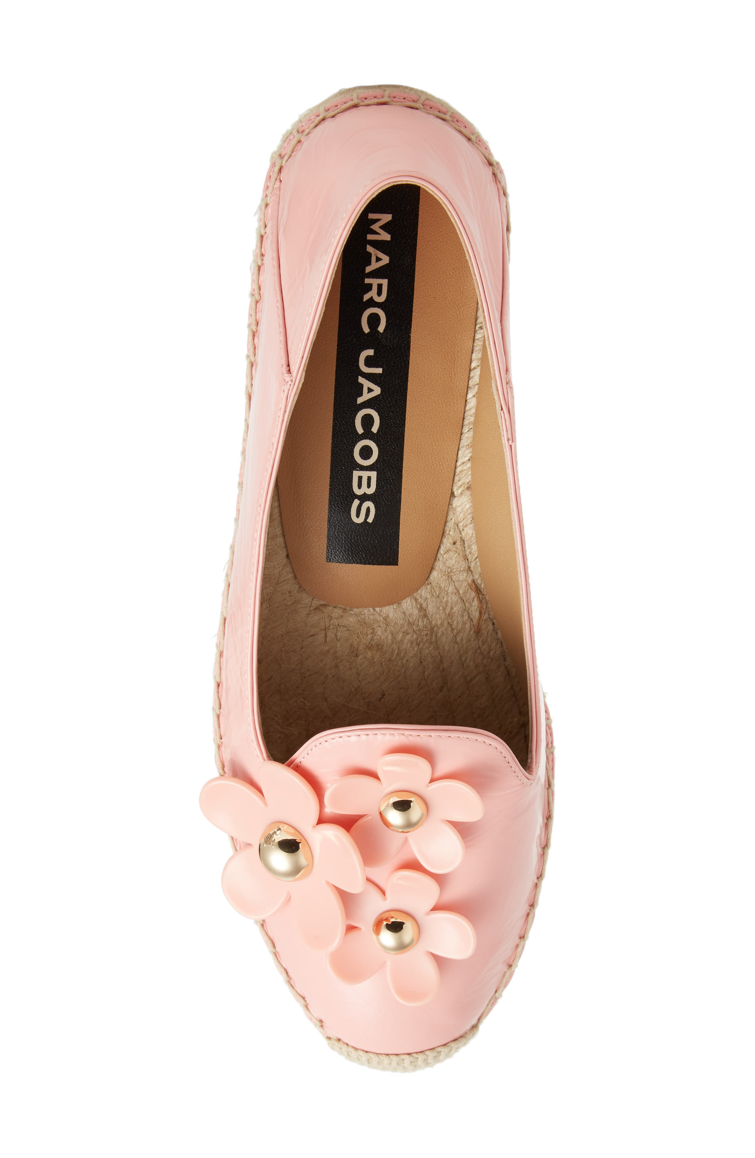 Daisy Studded Espadrille,                             Alternate thumbnail 5, color,                             LIGHT PINK