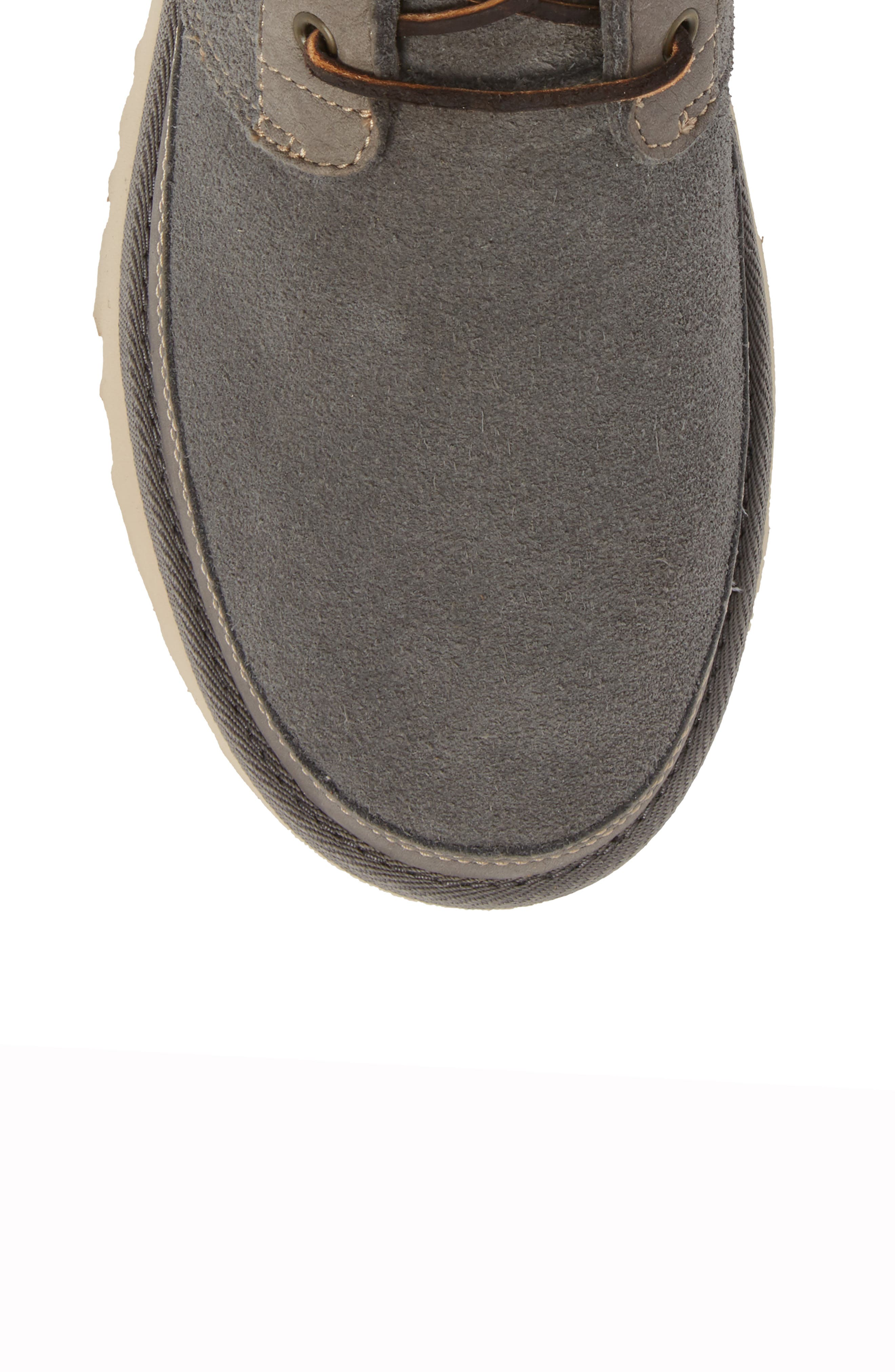Neumel Unlined Chukka Boot,                             Alternate thumbnail 5, color,                             CHARCOAL LEATHER