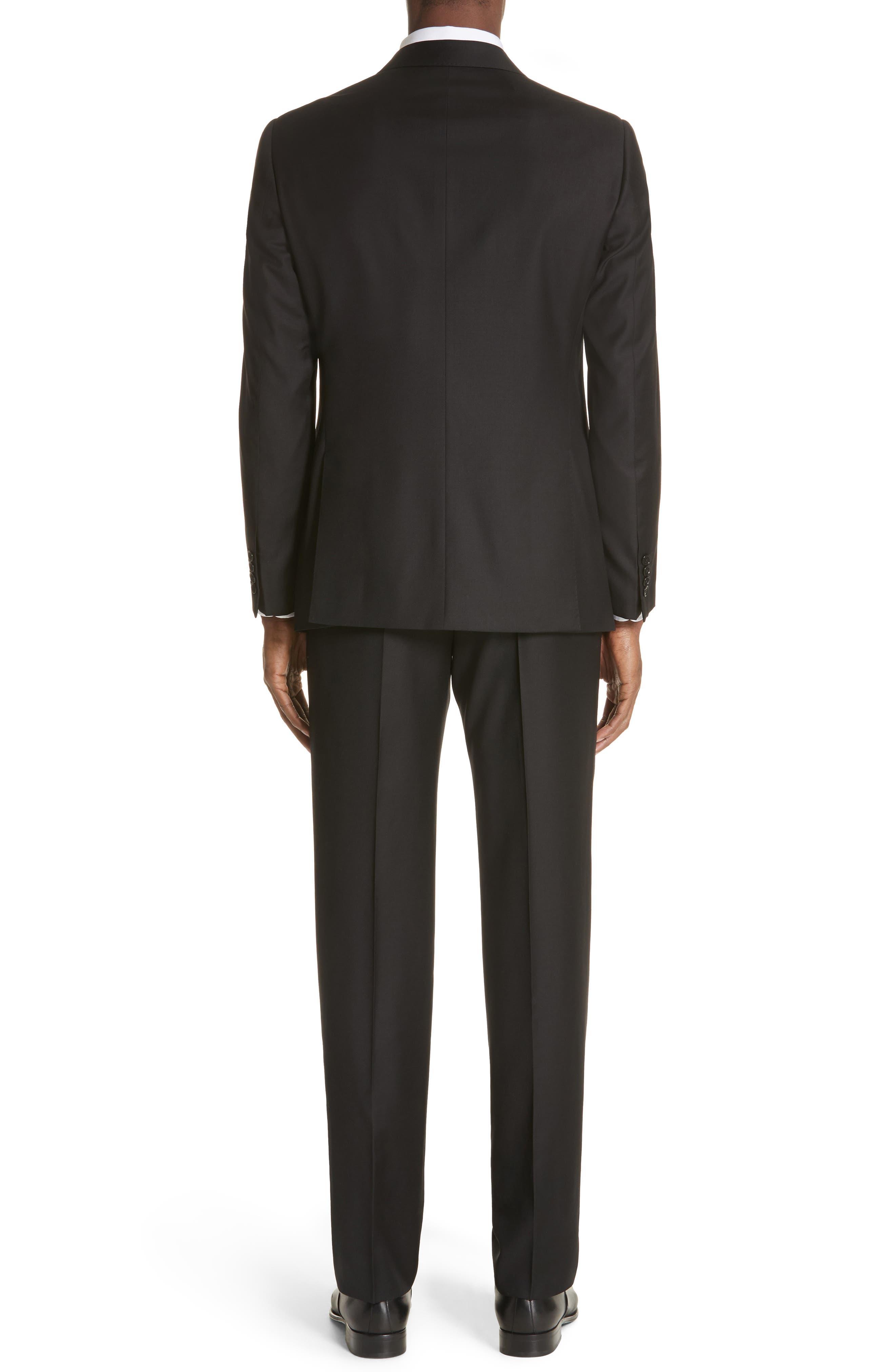 Trim Fit Solid Wool Suit,                             Alternate thumbnail 4, color,
