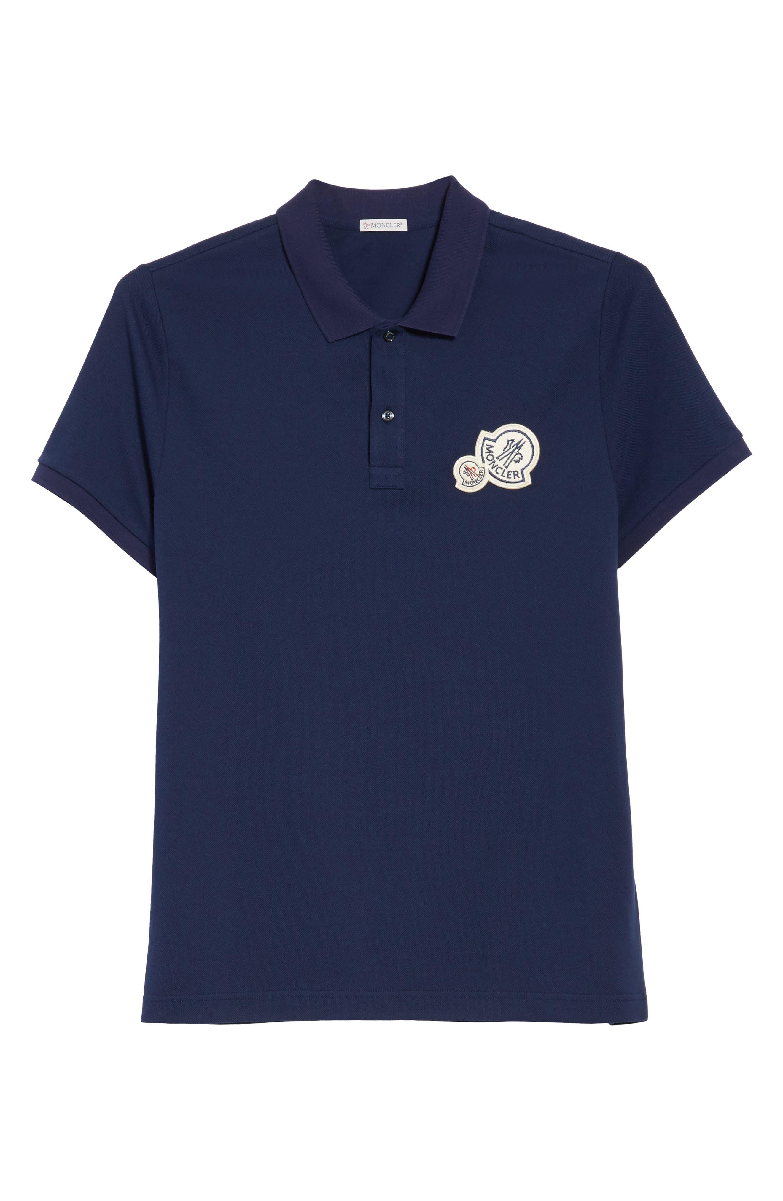 Dual Logo Polo Shirt,                             Alternate thumbnail 6, color,                             NAVY