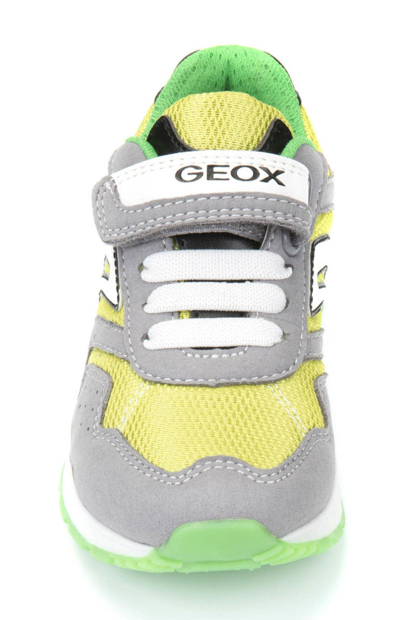 Pavel Low Top Sneaker,                             Alternate thumbnail 4, color,                             GREY/ LIME