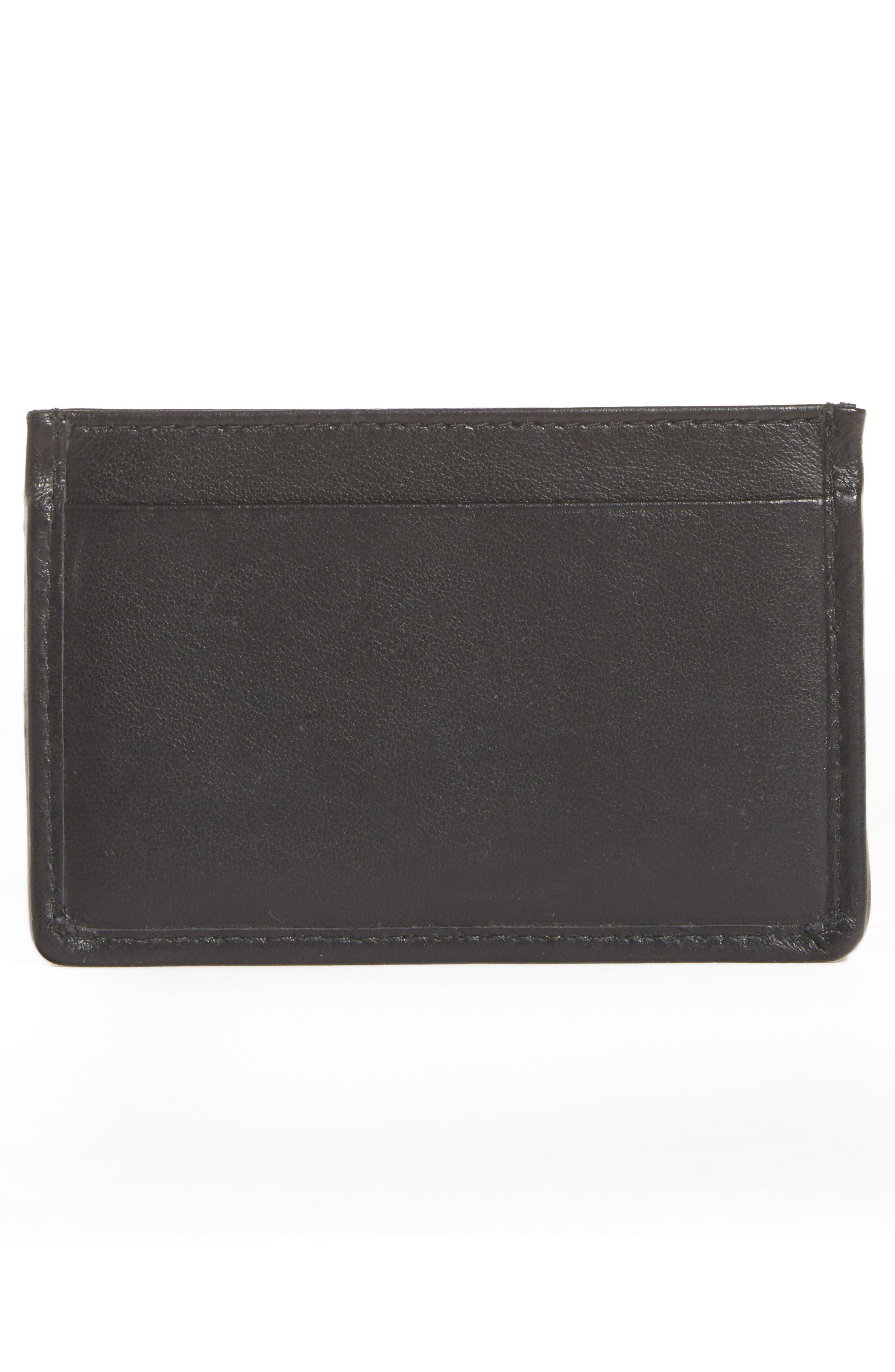 Quilted Leather Card Case,                             Alternate thumbnail 3, color,                             001