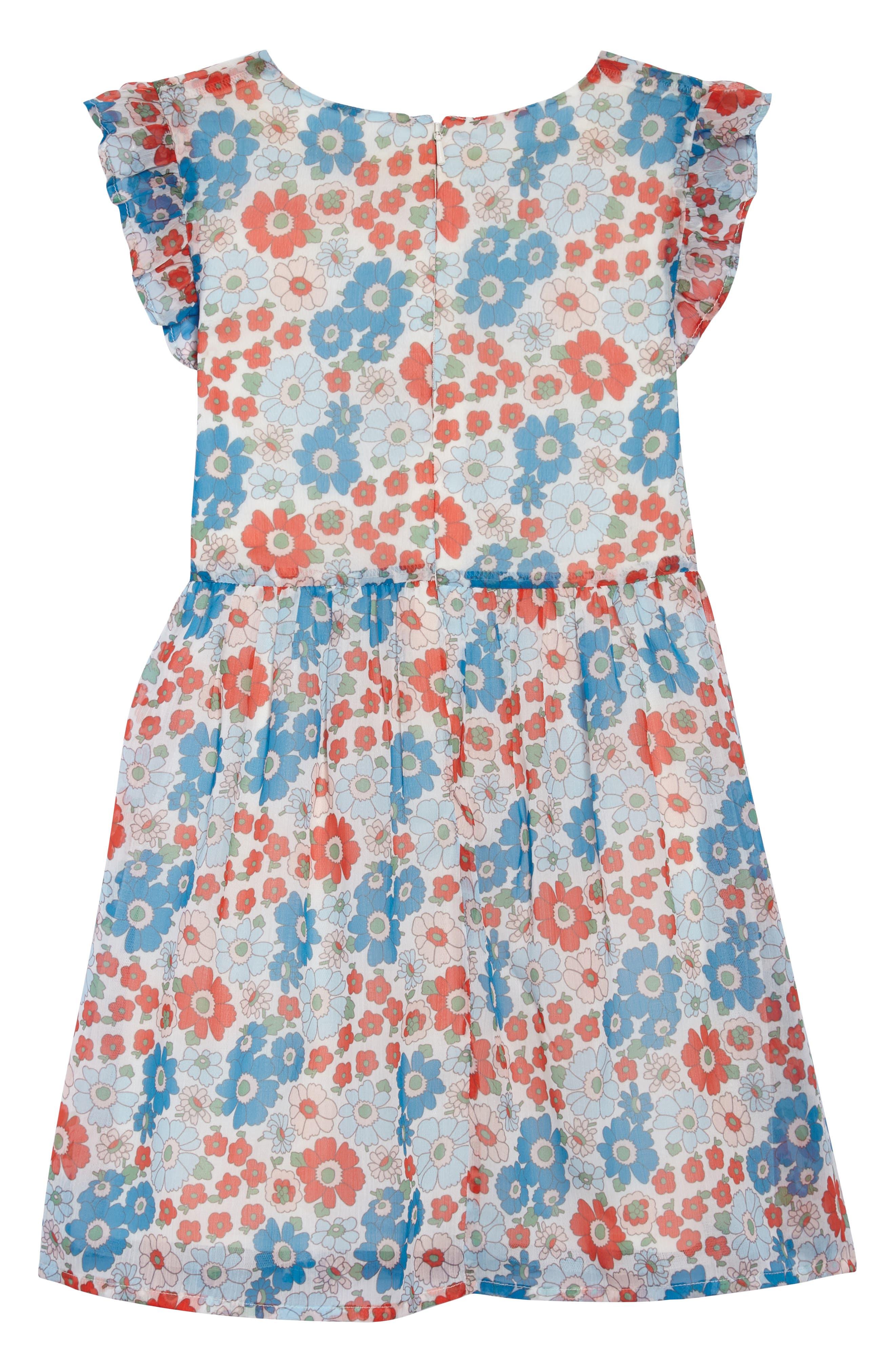 Floral Smocked Dress,                             Alternate thumbnail 2, color,                             901