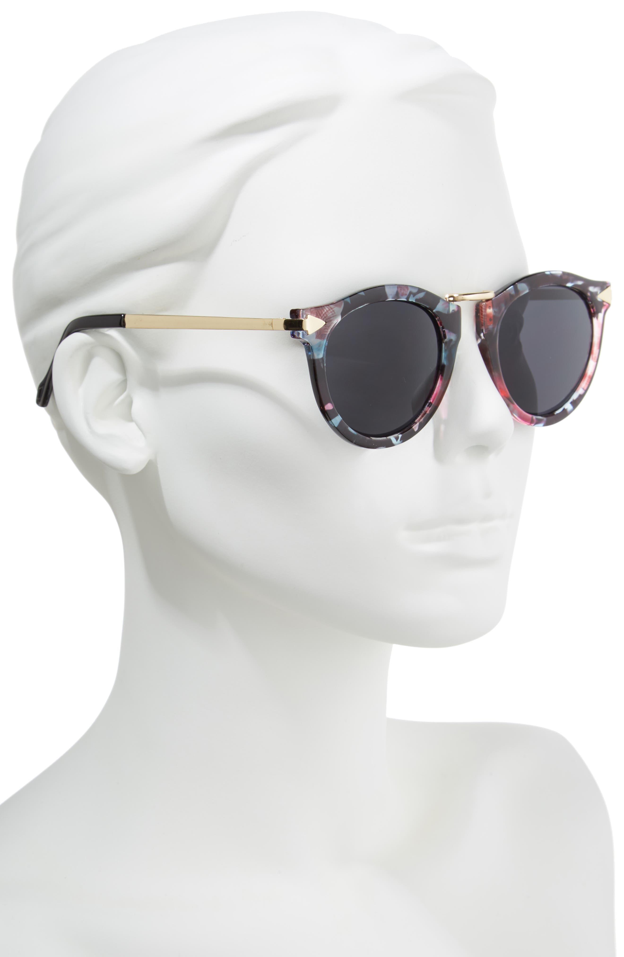 51mm Wing Detail Sunglasses,                             Alternate thumbnail 2, color,