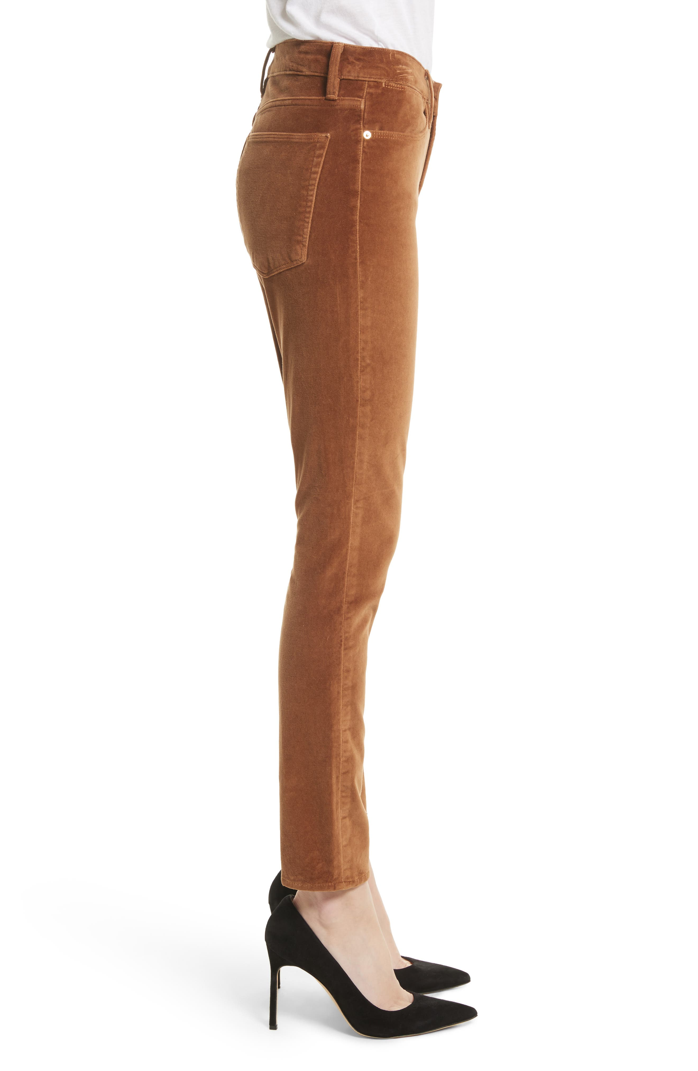 Velveteen High Waist Skinny Pants,                             Alternate thumbnail 6, color,