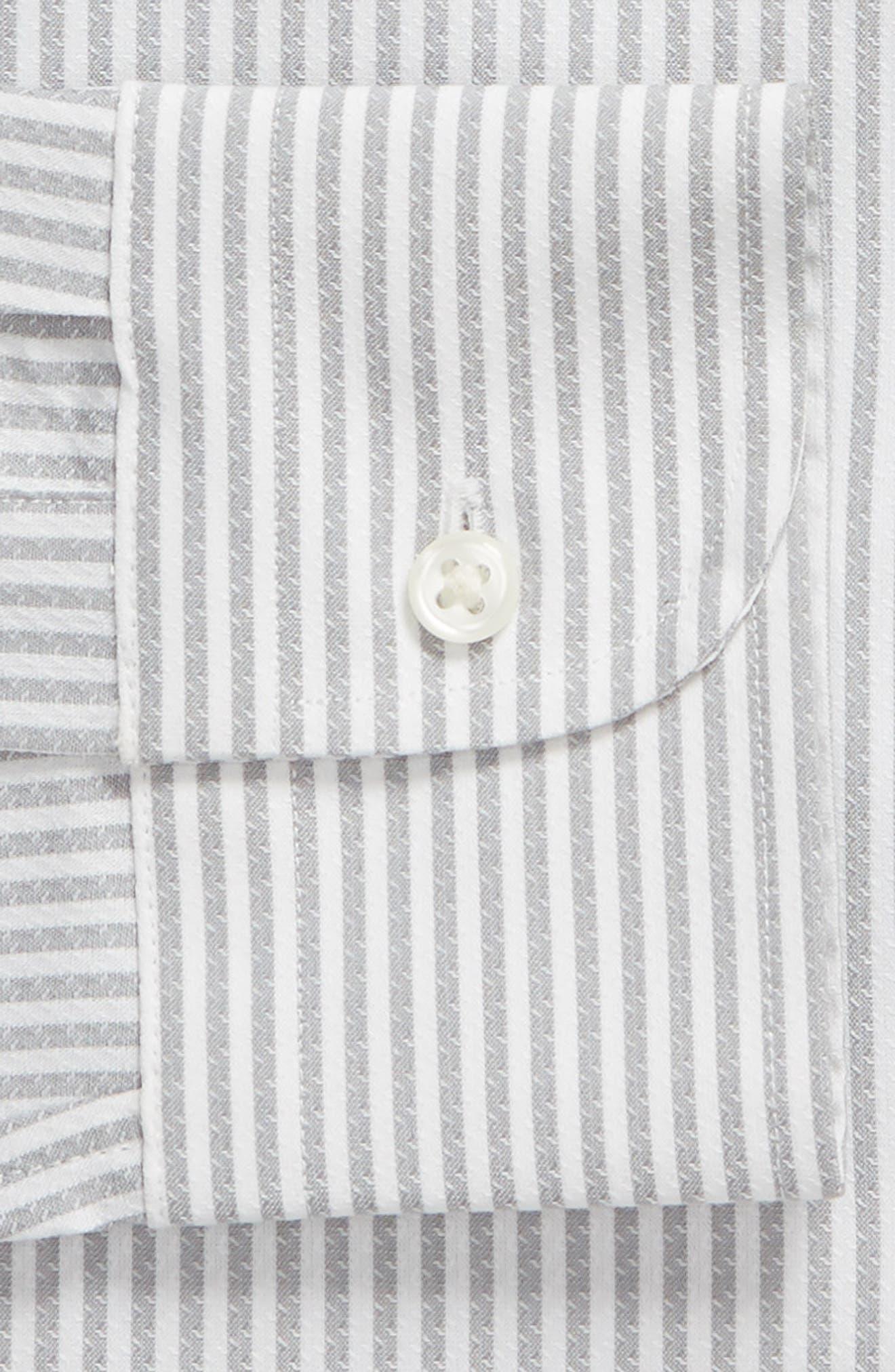 Tech-Smart Trim Fit Stripe Stretch Dress Shirt,                             Alternate thumbnail 6, color,                             050