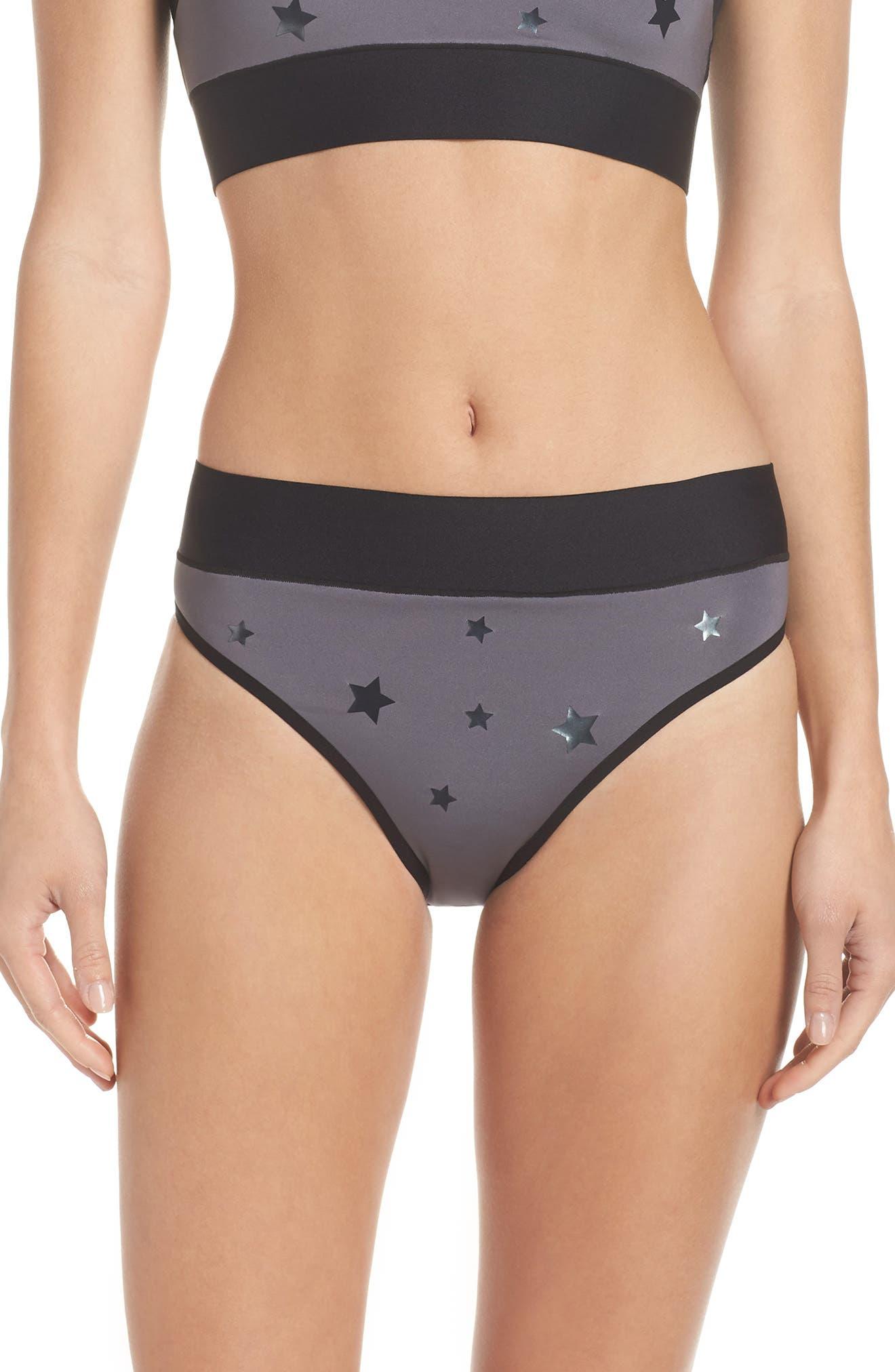 Argon Luster High Waist Bikini Bottoms,                         Main,                         color, 020