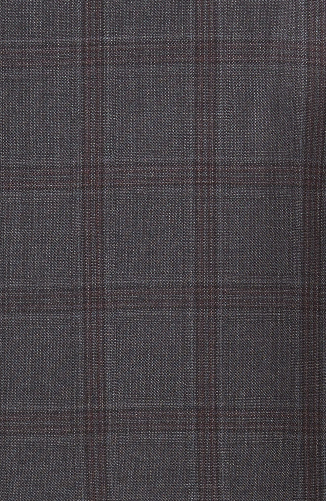 Classic Fit Check Wool Suit,                             Alternate thumbnail 7, color,                             020