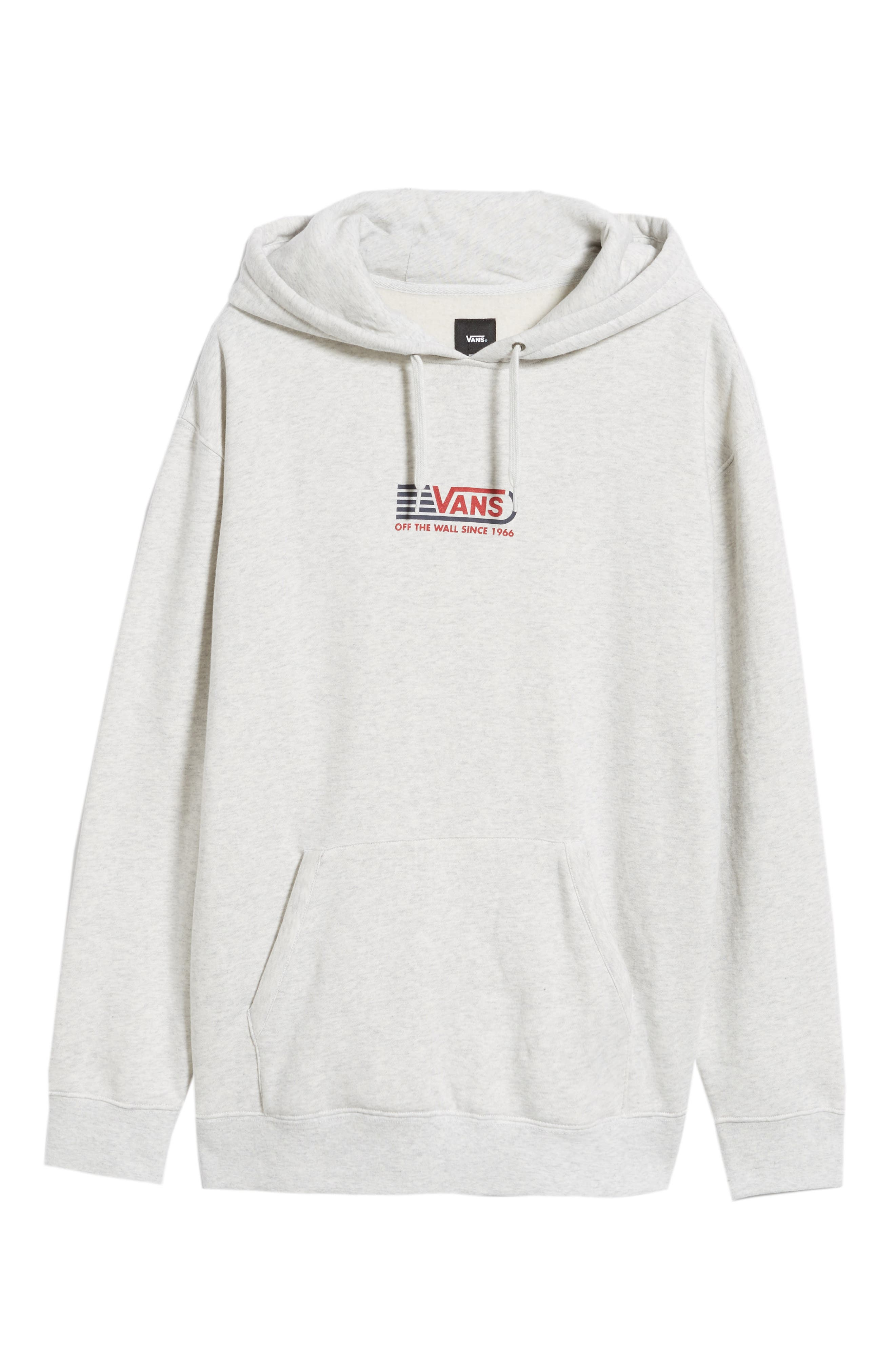 Blendline Oversize Pullover Hoodie,                             Alternate thumbnail 6, color,                             WHITE HEATHER