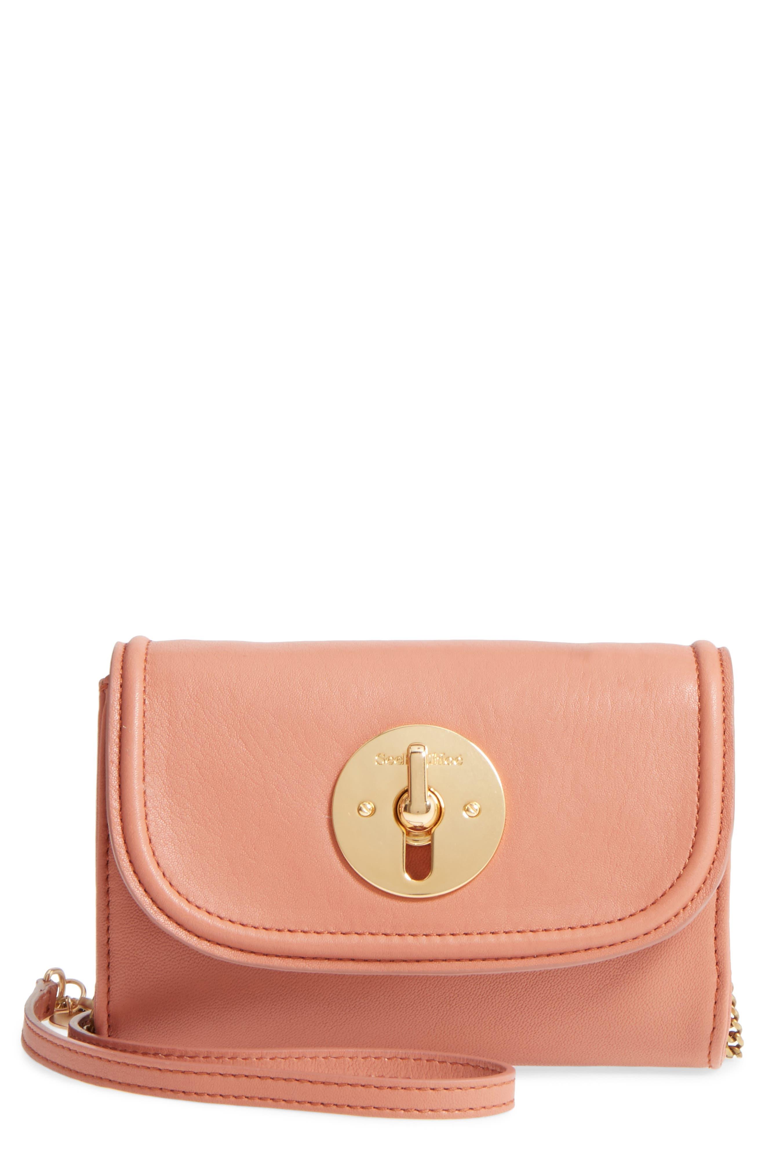 See By Chloe Mini Leather Crossbody Bag - Pink