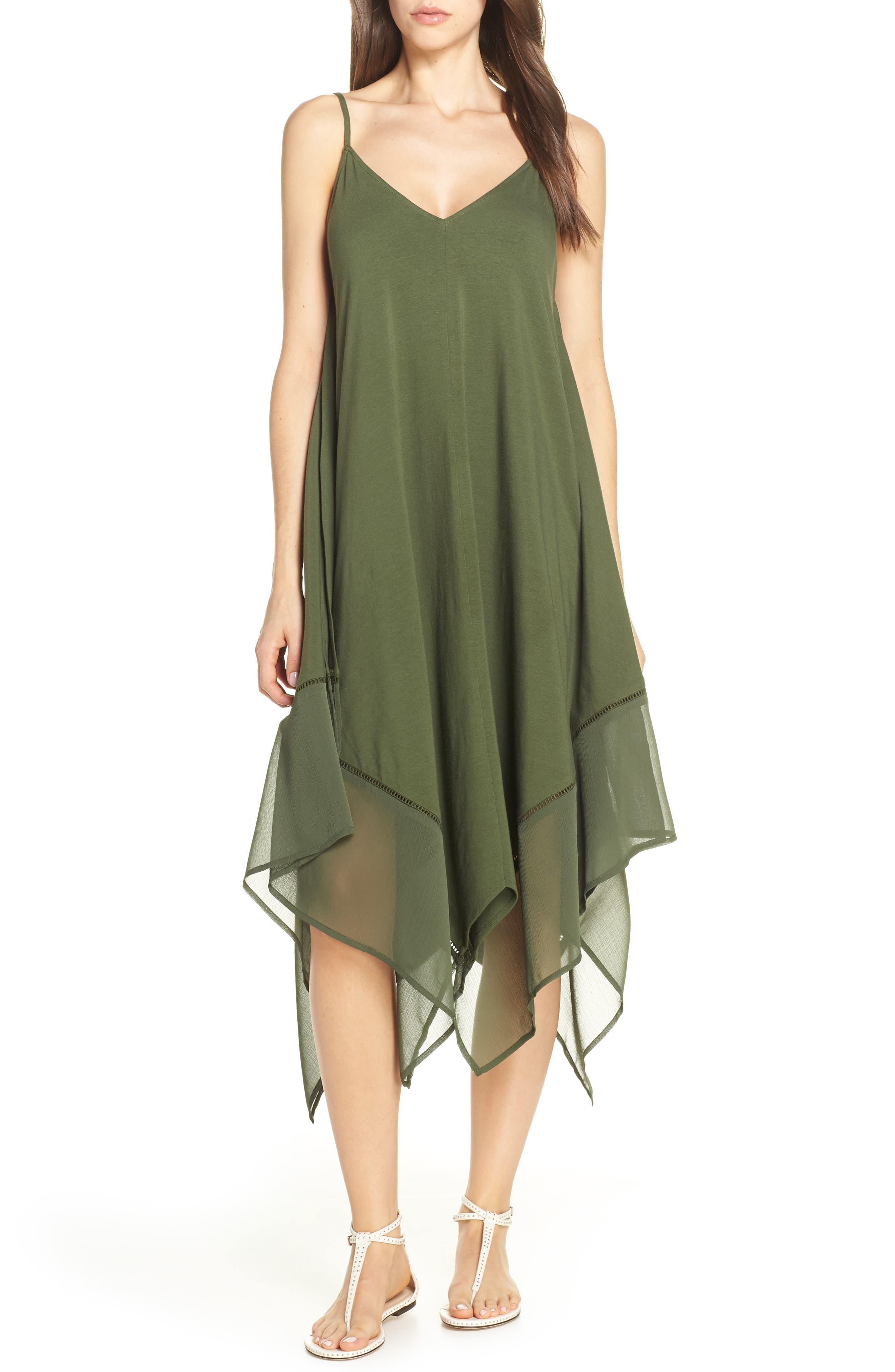 Tommy Bahama Cover-Up Scarf Dress, Green