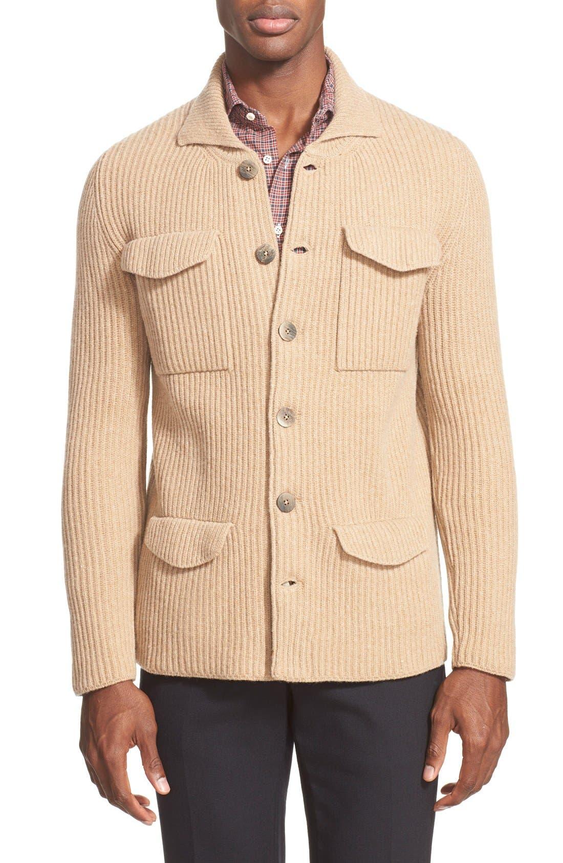 Napoli Wool Cardigan, Main, color, 250