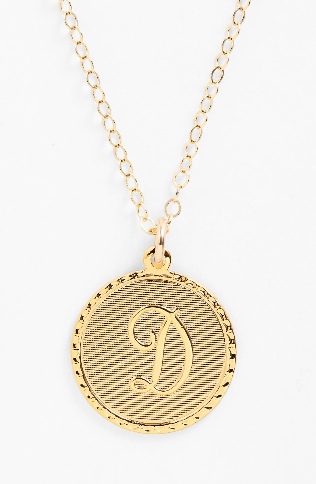 'Dalton' Initial Pendant Necklace,                             Main thumbnail 1, color,                             GOLD - D