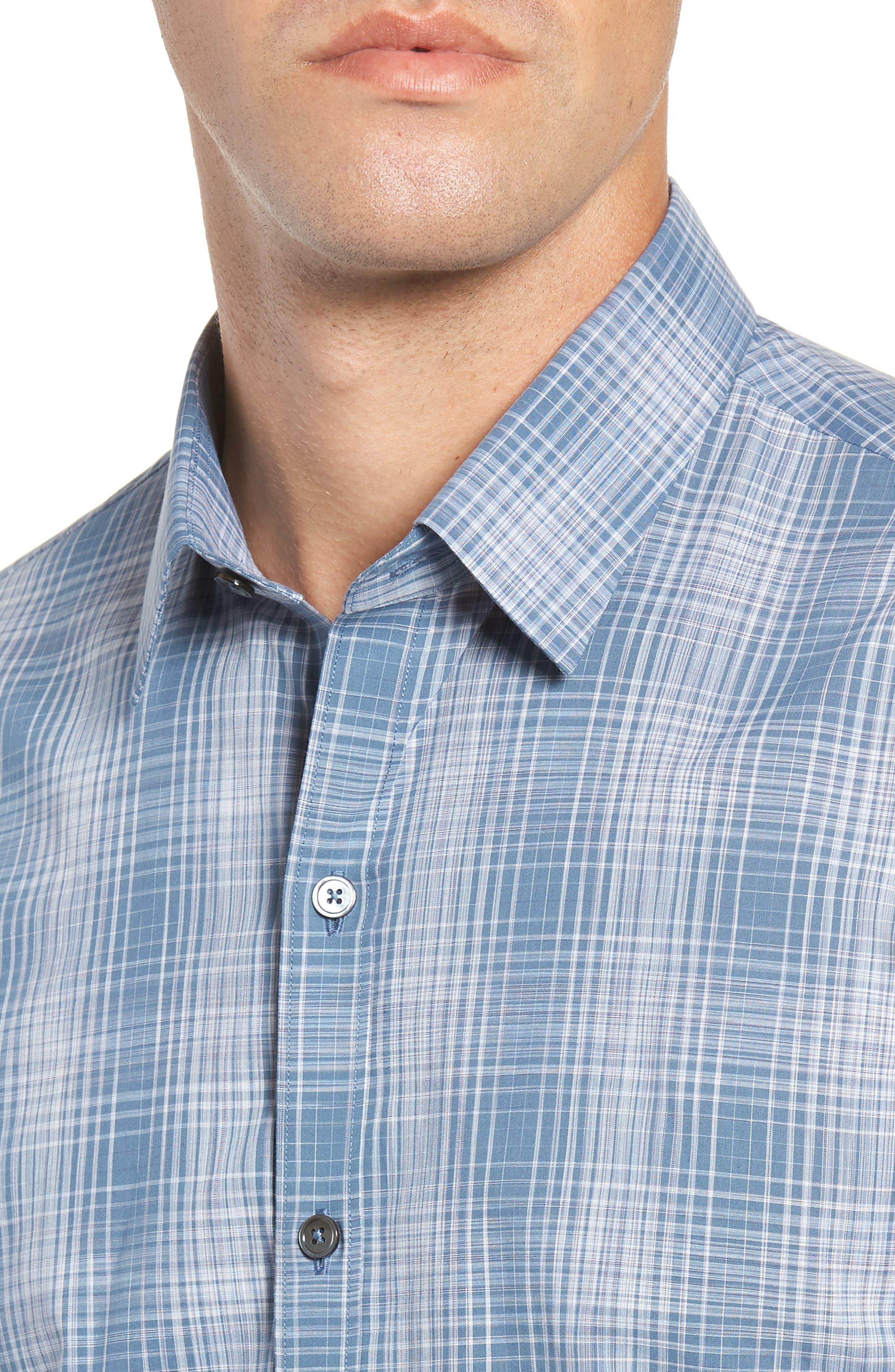 Slater Check Sport Shirt,                             Alternate thumbnail 2, color,                             PALE BLUE