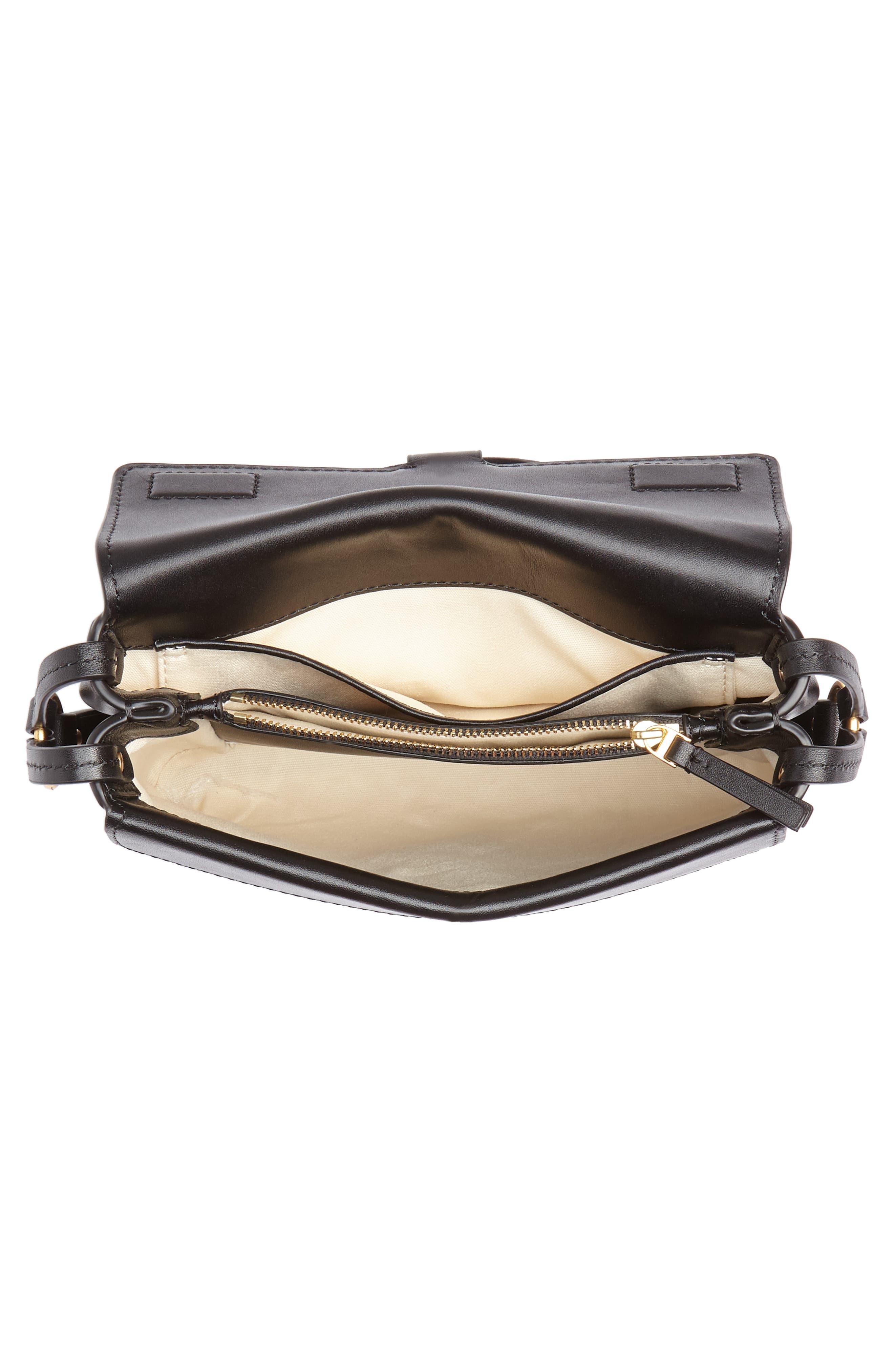 Miller Leather Crossbody Bag,                             Alternate thumbnail 4, color,                             BLACK