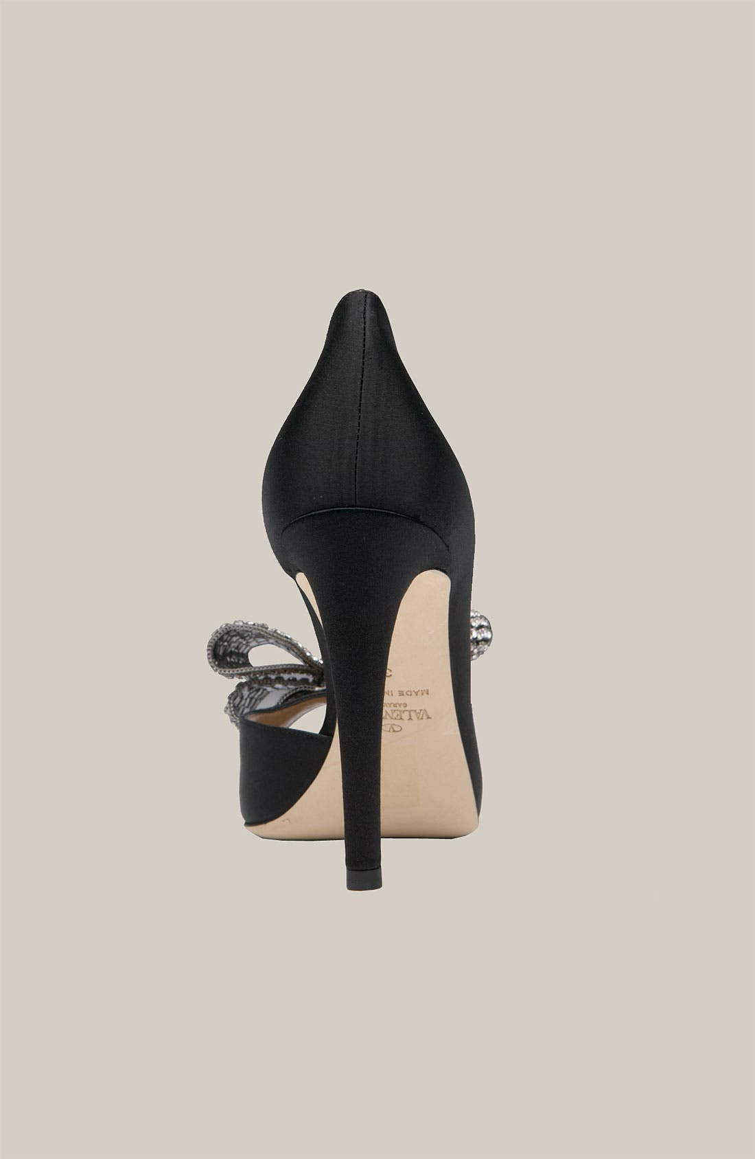 VALENTINO GARAVANI,                             Jewelry Couture Bow d'Orsay Pump,                             Alternate thumbnail 4, color,                             001