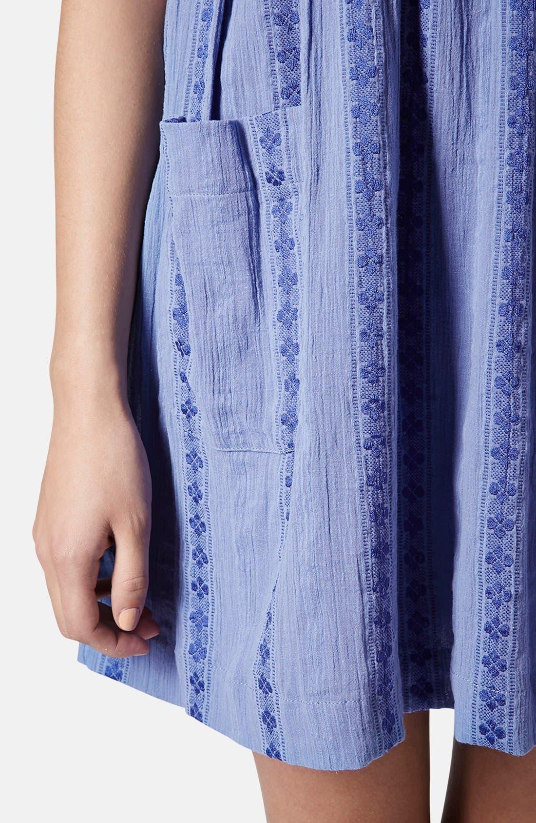 Overlay Tunic Dress,                             Alternate thumbnail 5, color,                             420