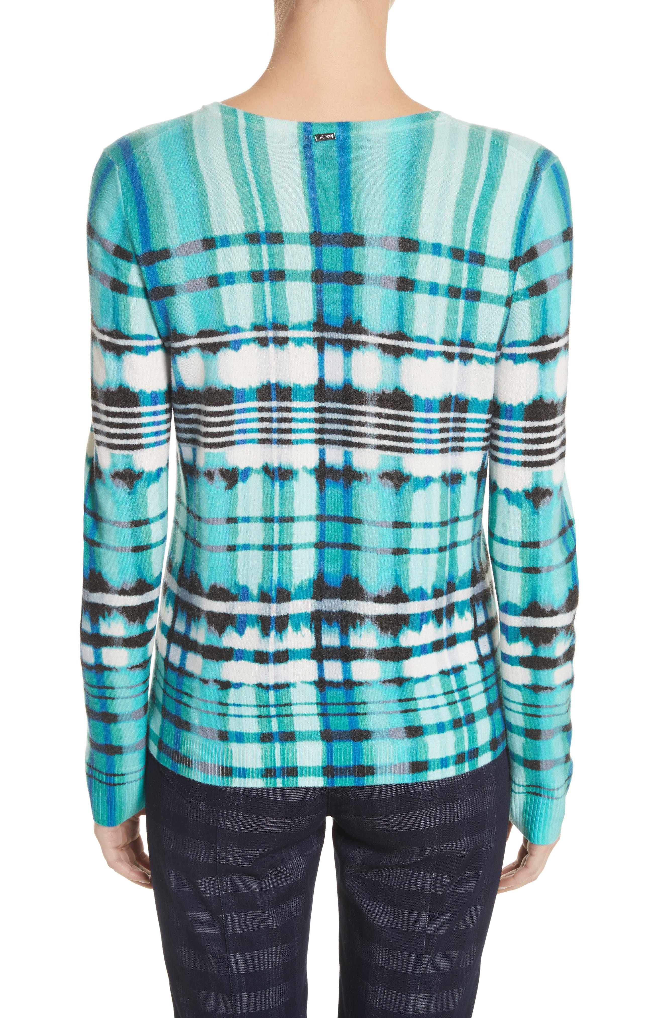 Overprint Plaid Cashmere Sweater,                             Alternate thumbnail 2, color,                             350