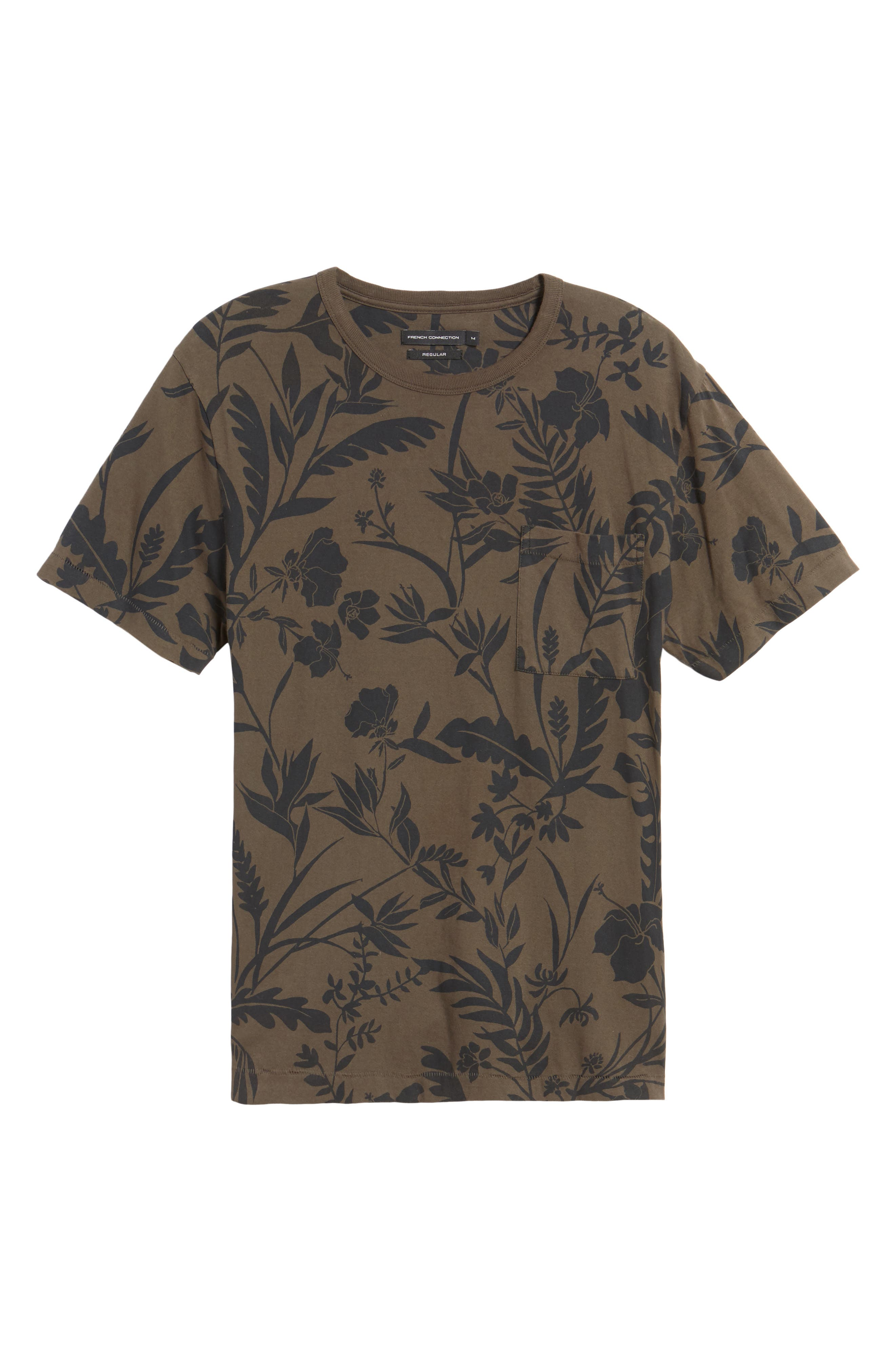 Floral Print T-Shirt,                             Alternate thumbnail 6, color,