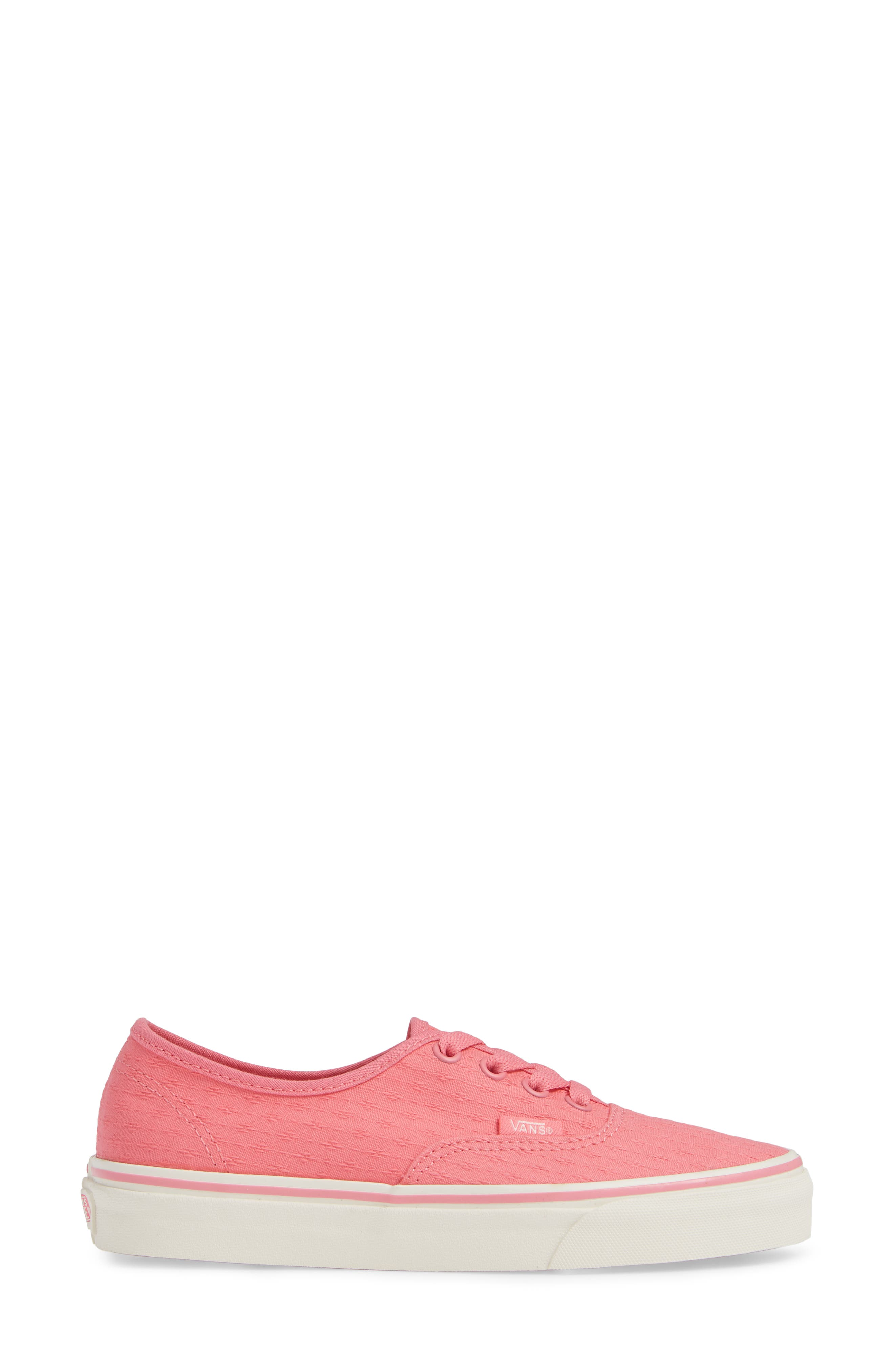 'Authentic' Sneaker,                             Alternate thumbnail 3, color,                             PINK LEMONADE/ MARSHMALLOW