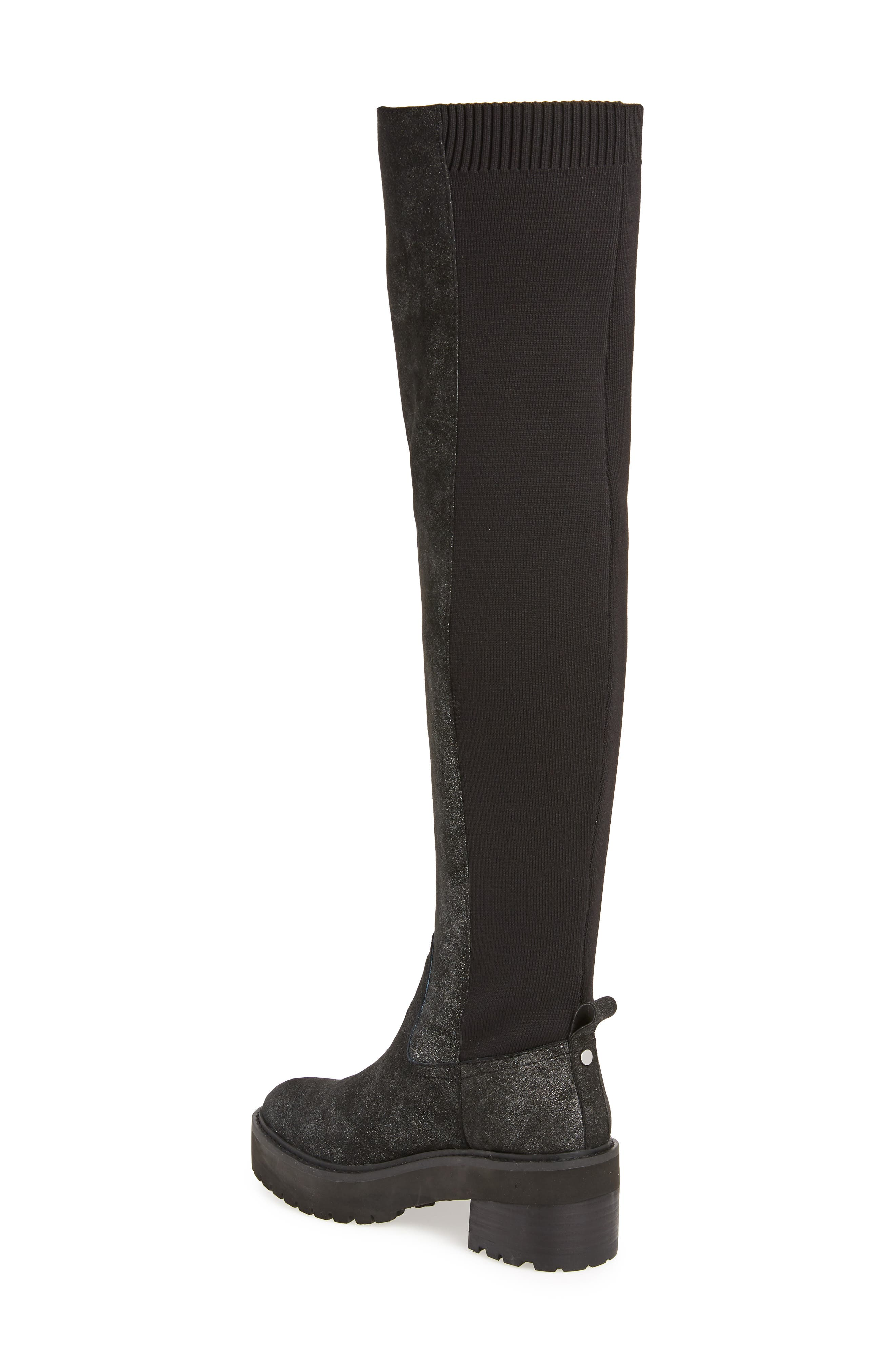 Lindy Over the Knee Boot,                             Alternate thumbnail 2, color,                             001