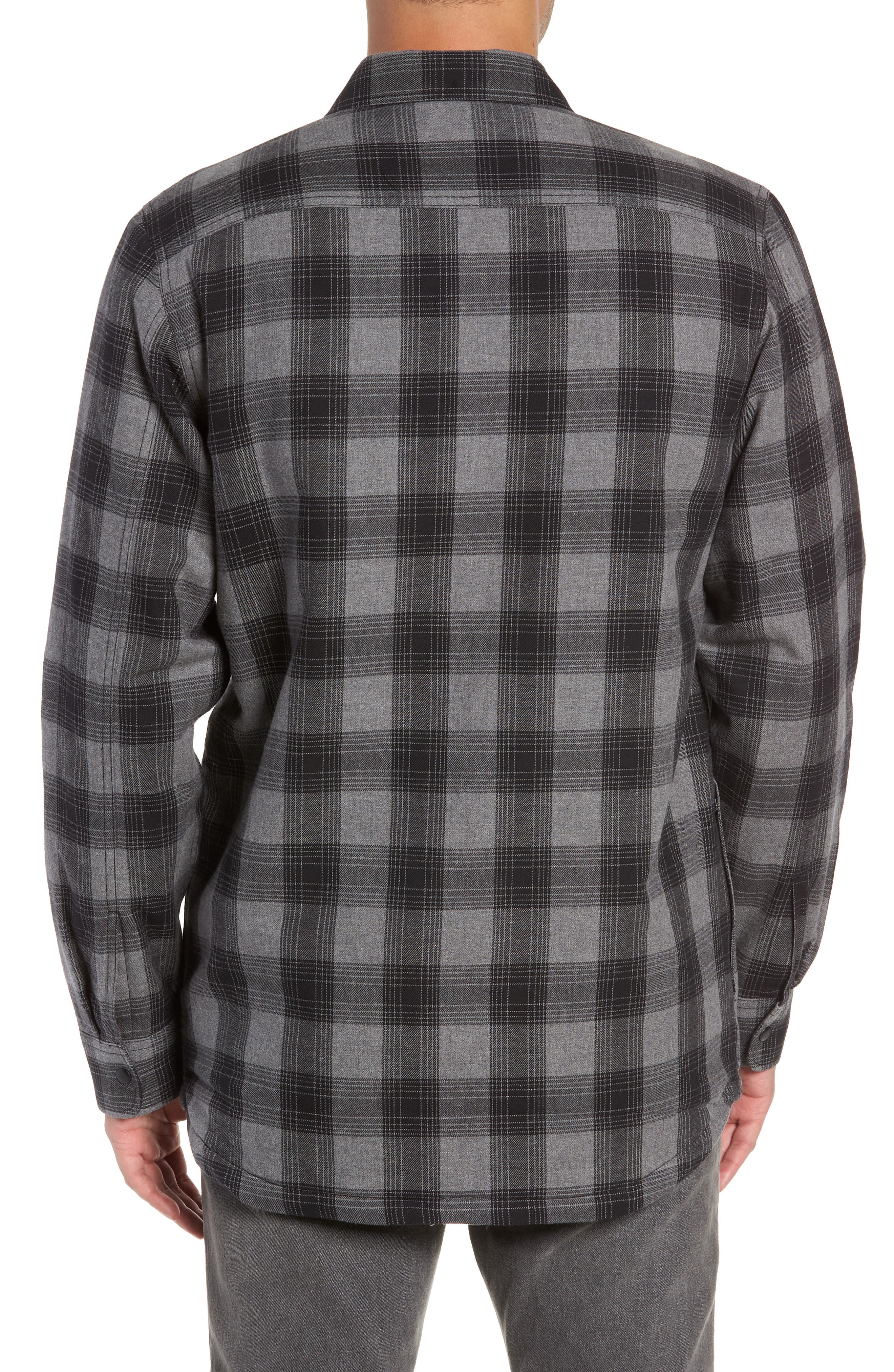 VANS,                             Parnell Plaid Shirt Jacket,                             Alternate thumbnail 2, color,                             GRAVEL HEATHER
