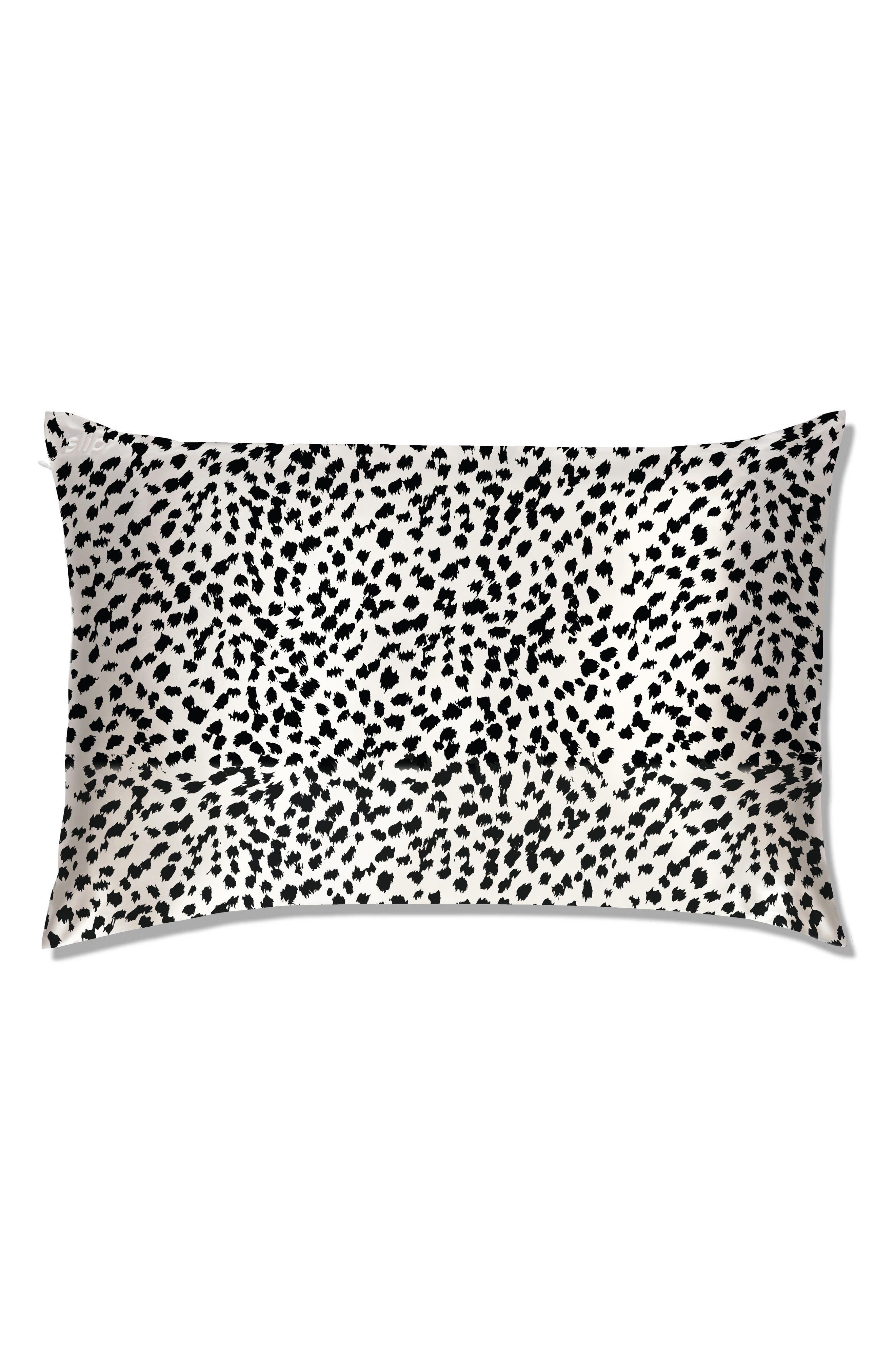 slip<sup>™</sup> for beauty sleep<sup>™</sup> Black & White Leopard Pillowcase,                         Main,                         color, NO COLOR