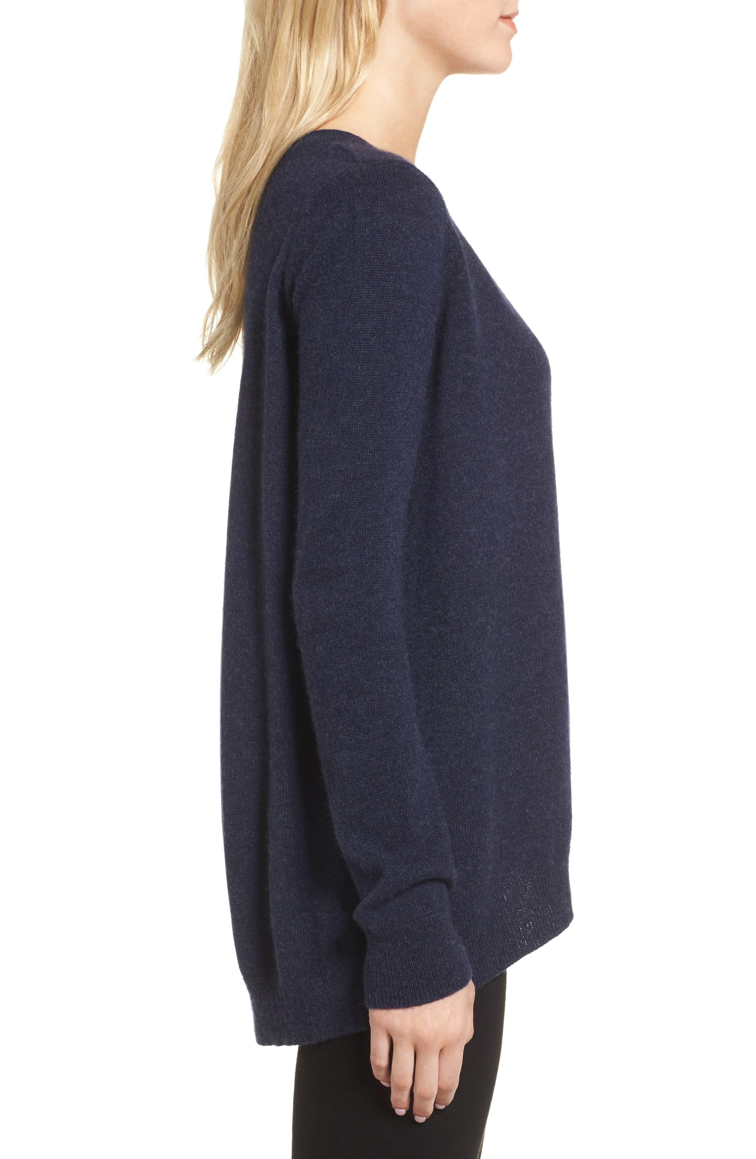 Danielle Cashmere Sweater,                             Alternate thumbnail 3, color,                             410