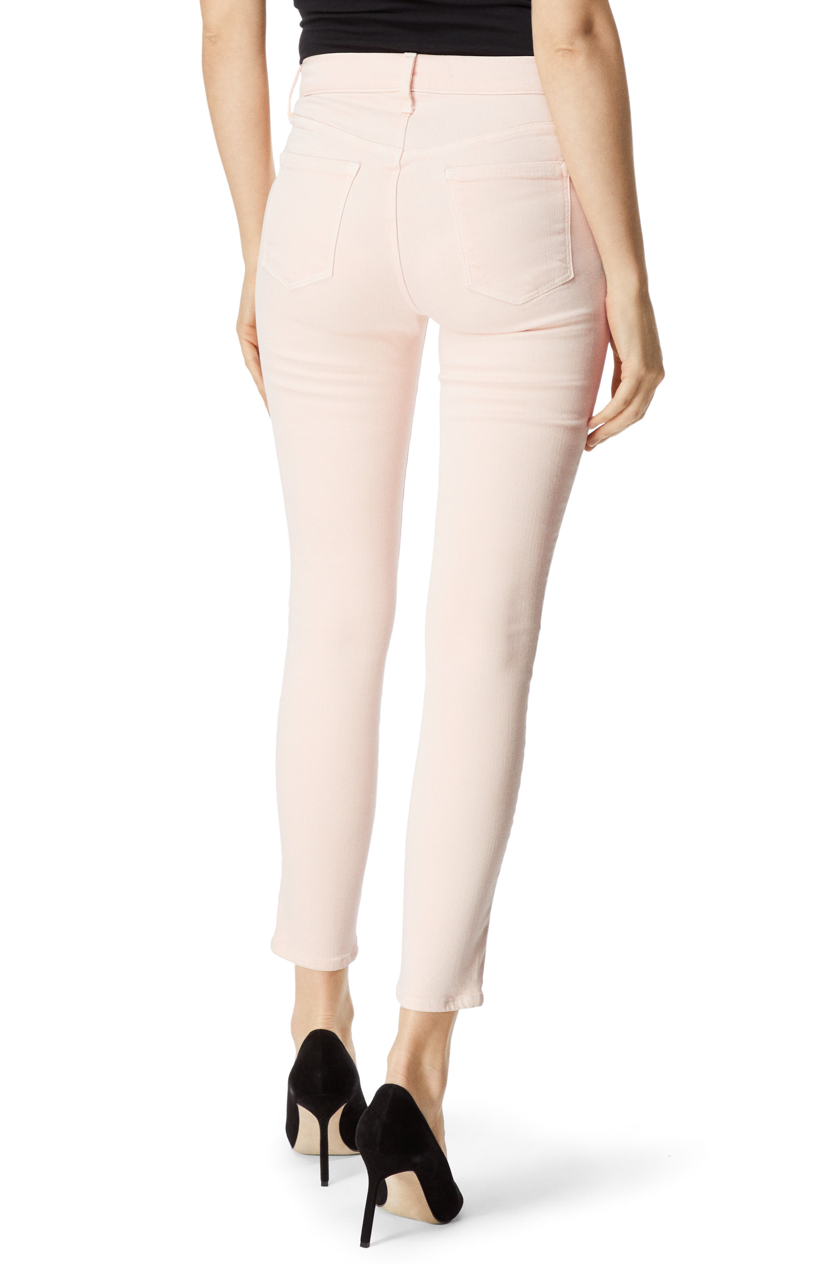 Alana High Waist Ankle Skinny Jeans,                             Alternate thumbnail 2, color,                             DISTRESSED LULLED