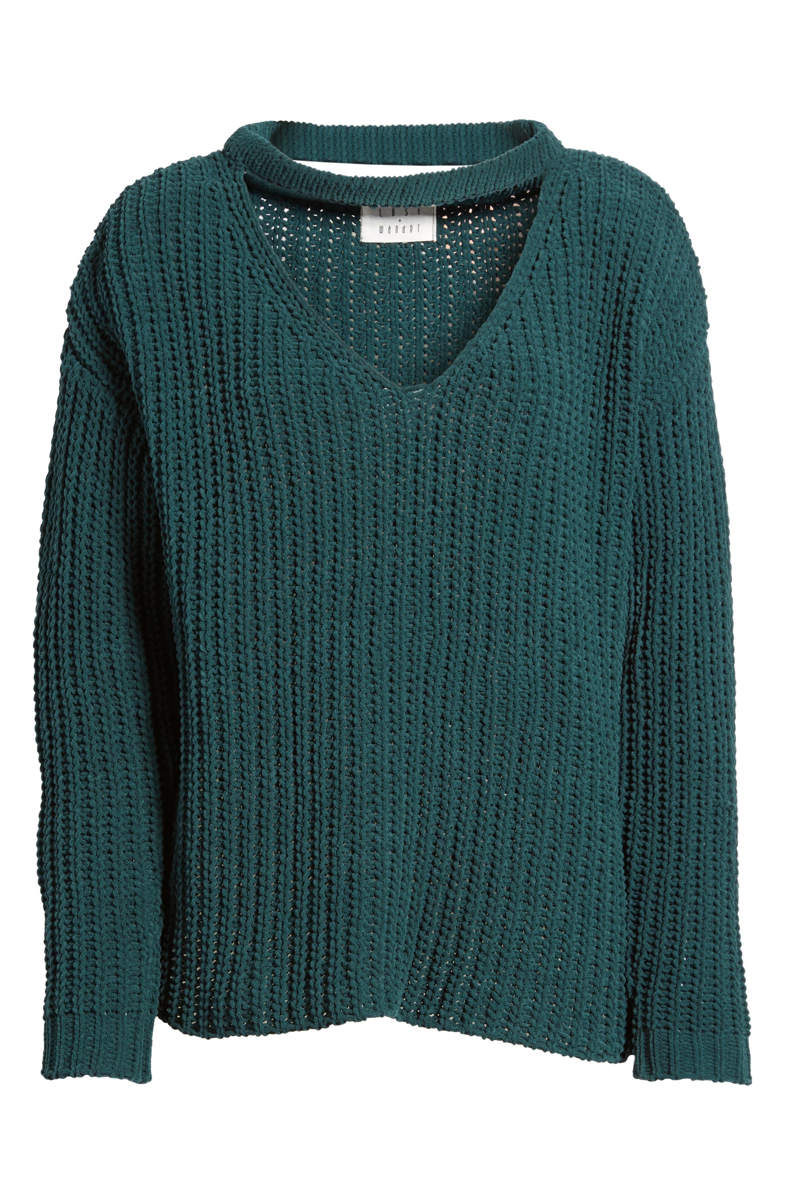 Mary Lous Choker Sweater,                             Alternate thumbnail 6, color,                             300
