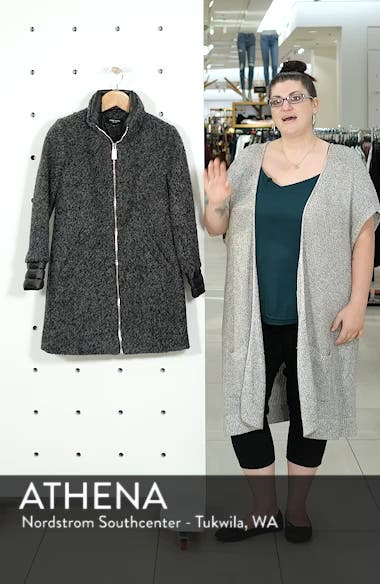 Layered Bouclé Coat, sales video thumbnail