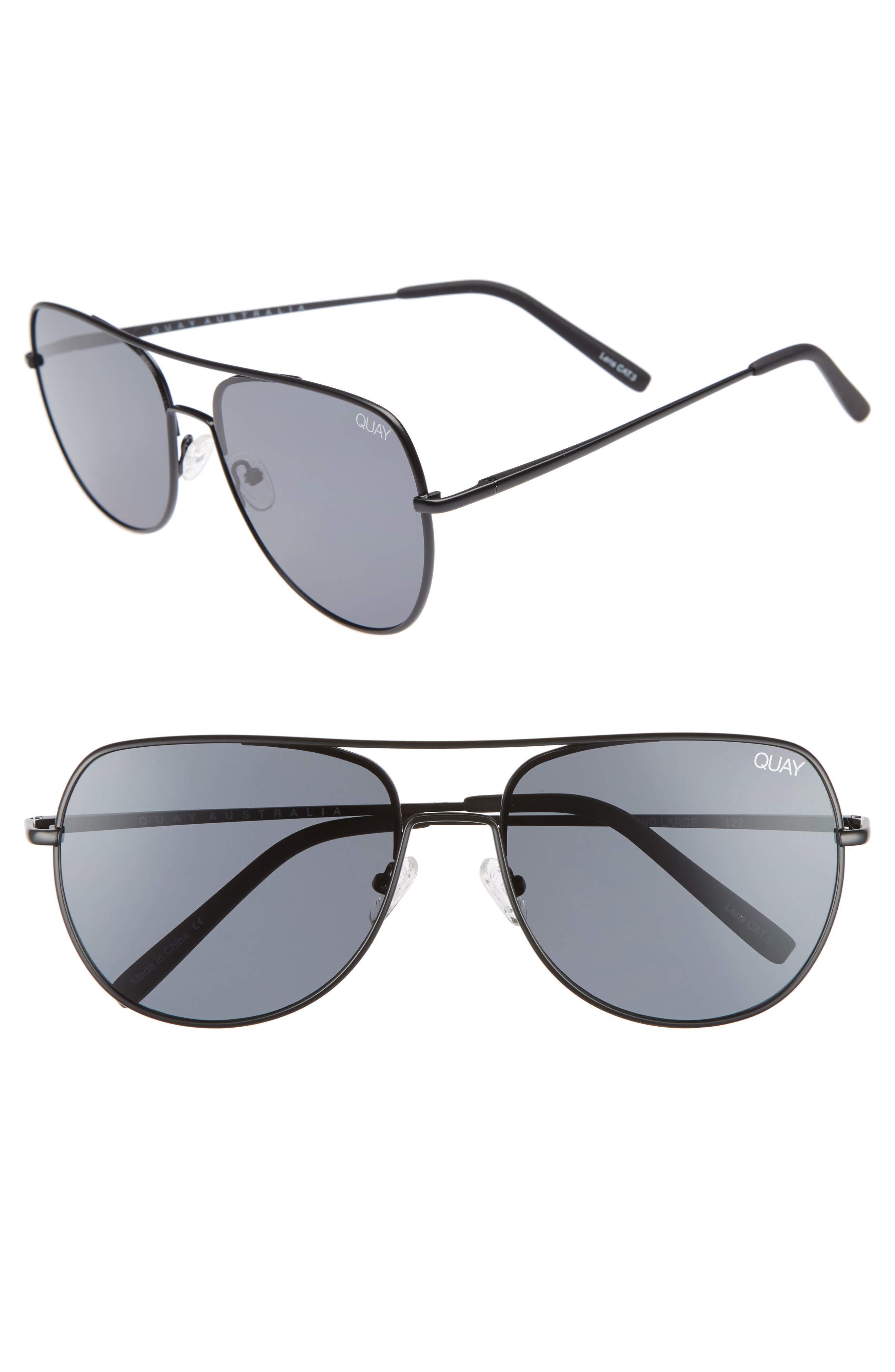 Quay Australia Living Large 5m Aviator Sunglasses -