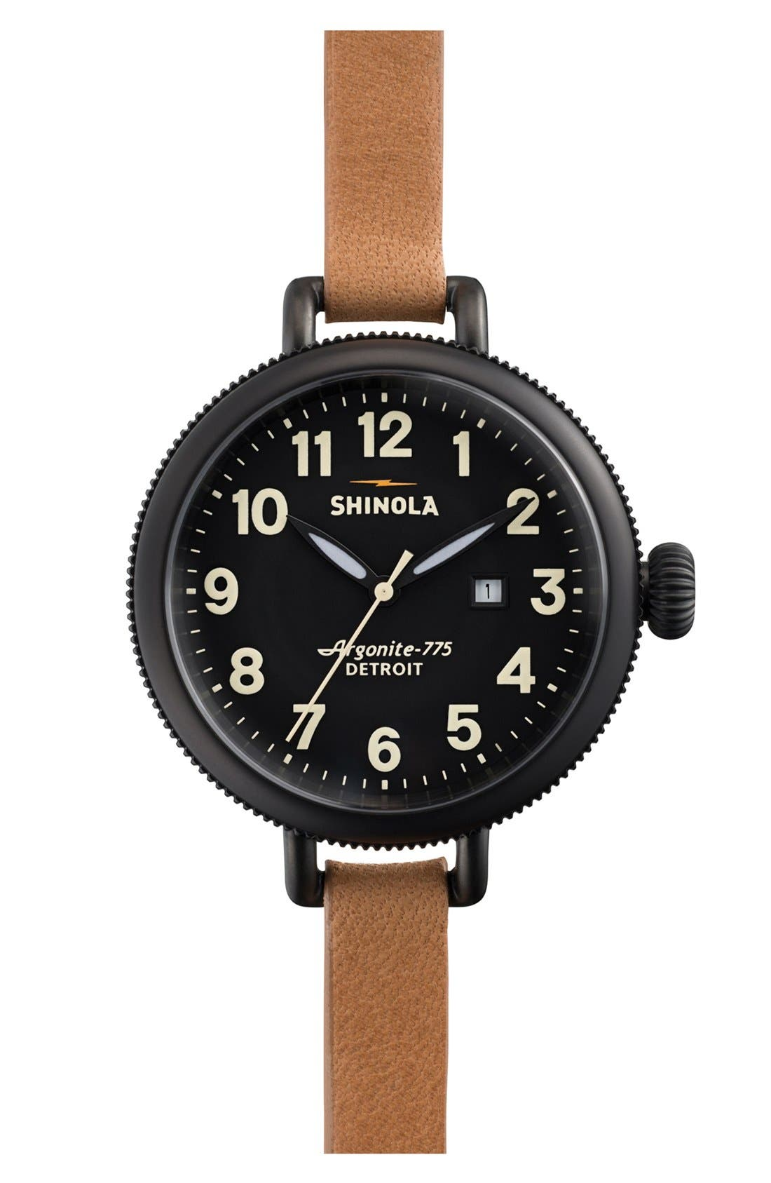 'The Birdy' Double Wrap Leather Strap Watch, 34mm,                             Main thumbnail 9, color,