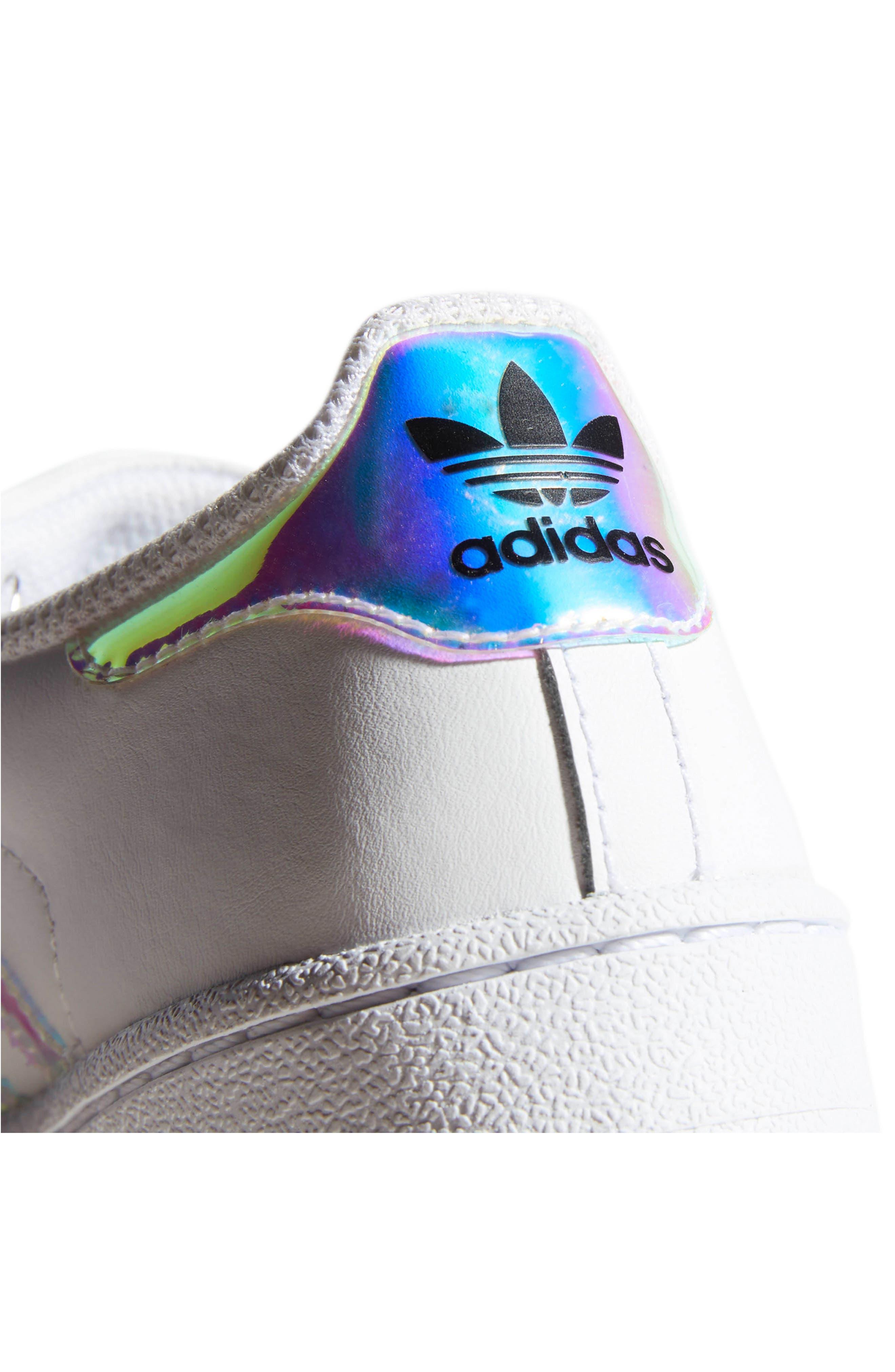 Superstar - Iridescent Sneaker,                             Alternate thumbnail 8, color,                             SILVER METALLIC/ WHITE