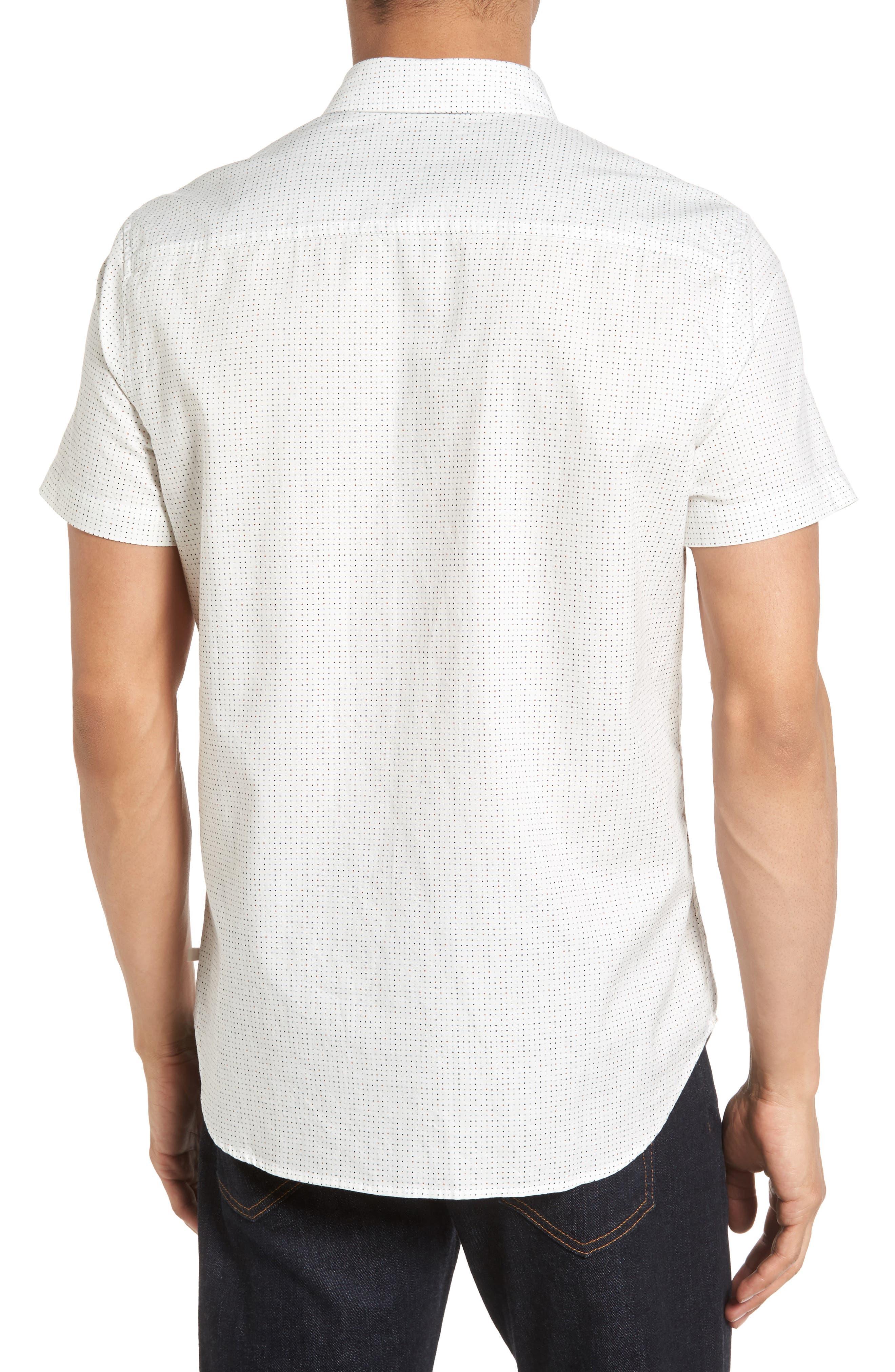 Nash Slim Fit Cotton Sport Shirt,                             Alternate thumbnail 2, color,                             100