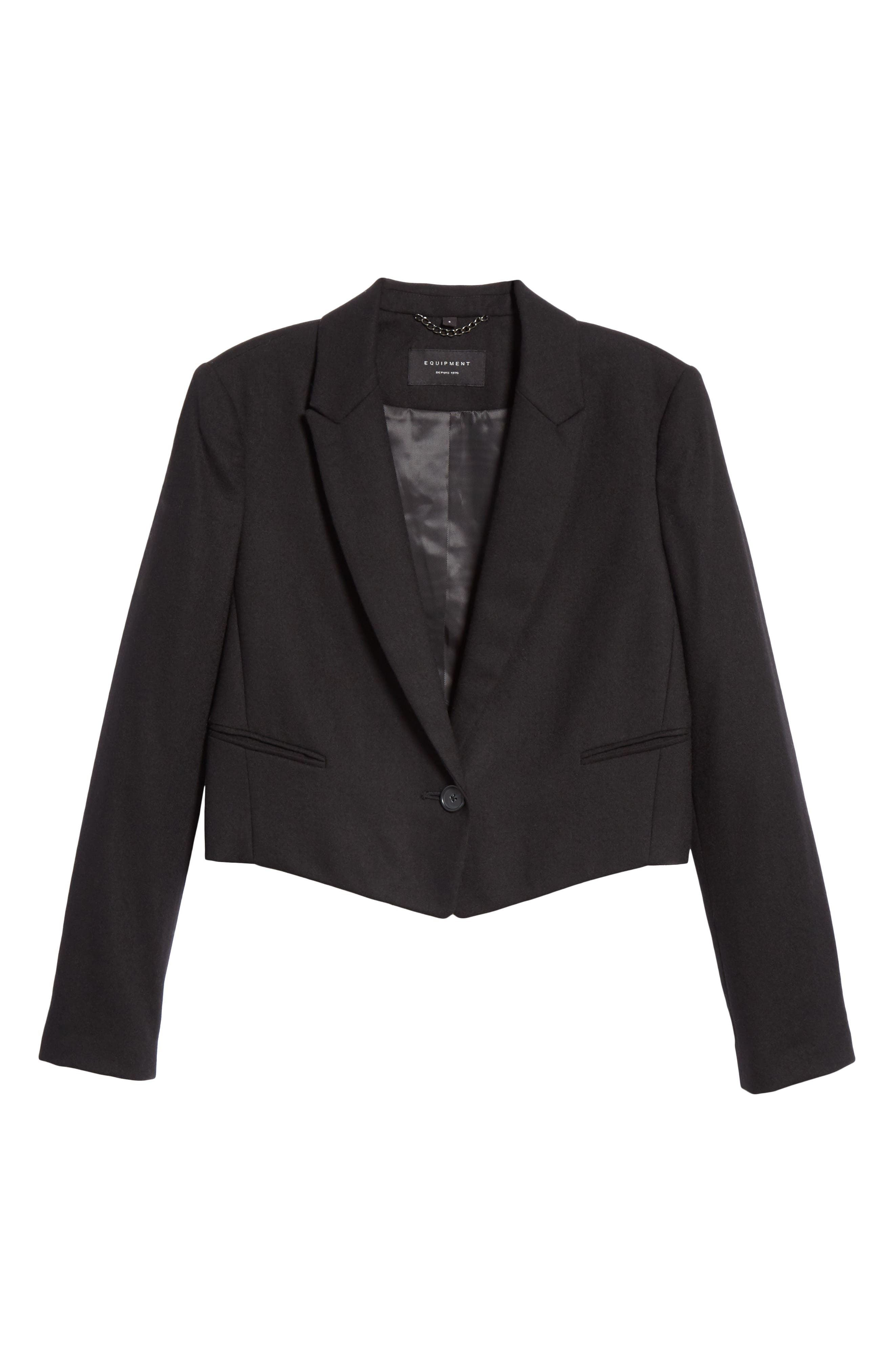 EQUIPMENT,                             Wright Wool Jacket,                             Alternate thumbnail 5, color,                             001