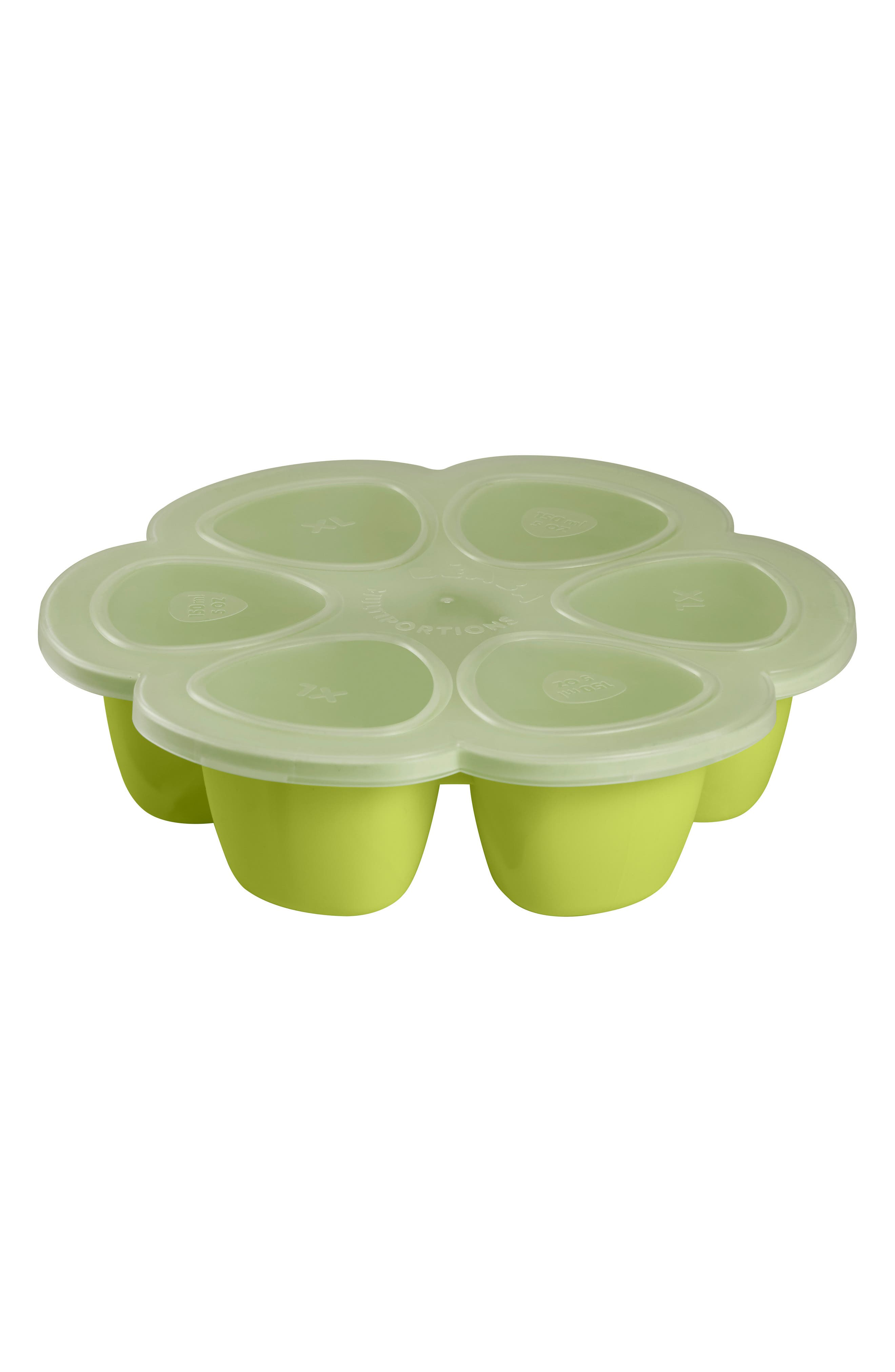 Multiportions<sup>™</sup> Silicone 5 oz. Food Cup Tray,                             Alternate thumbnail 4, color,                             NEON
