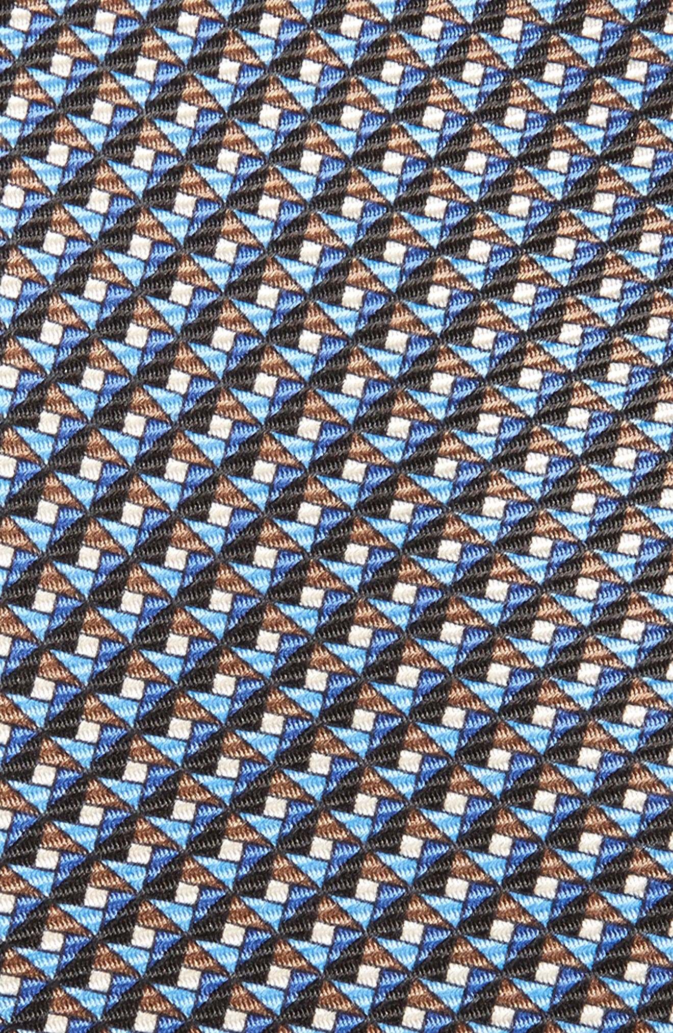 Geometric Silk Tie,                             Alternate thumbnail 2, color,                             038