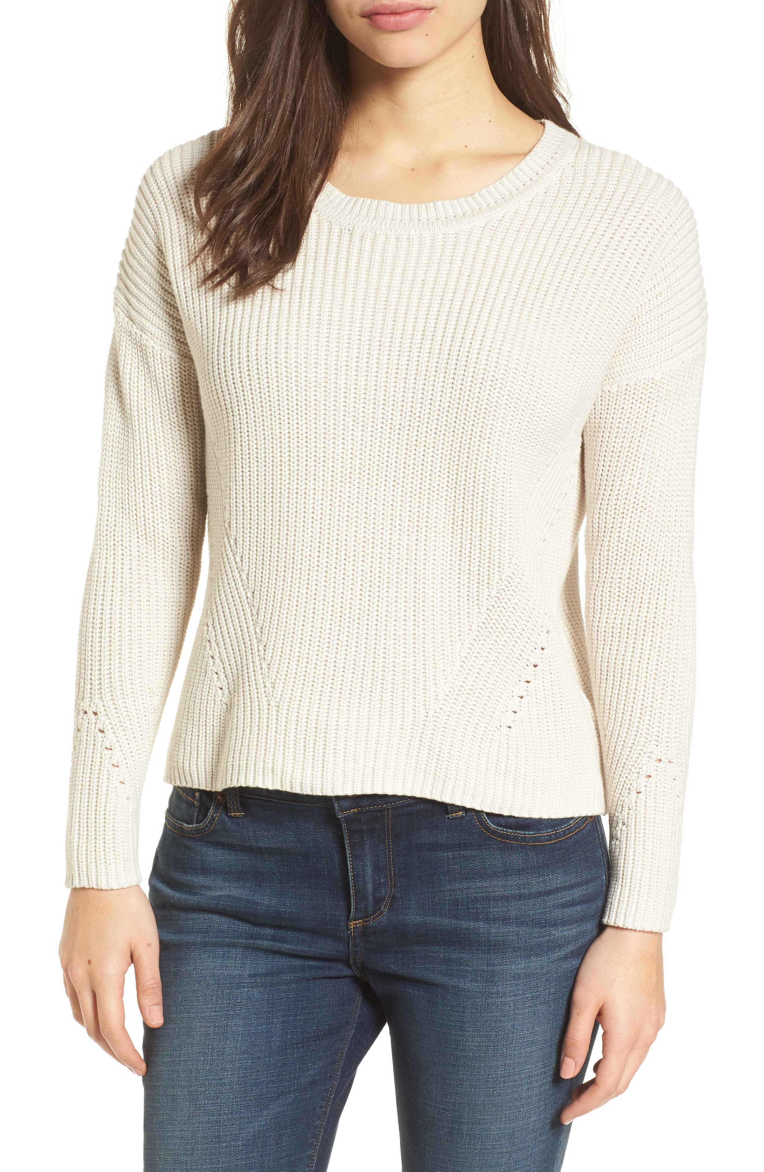 Lace-Up Back Sweater,                             Main thumbnail 1, color,                             250