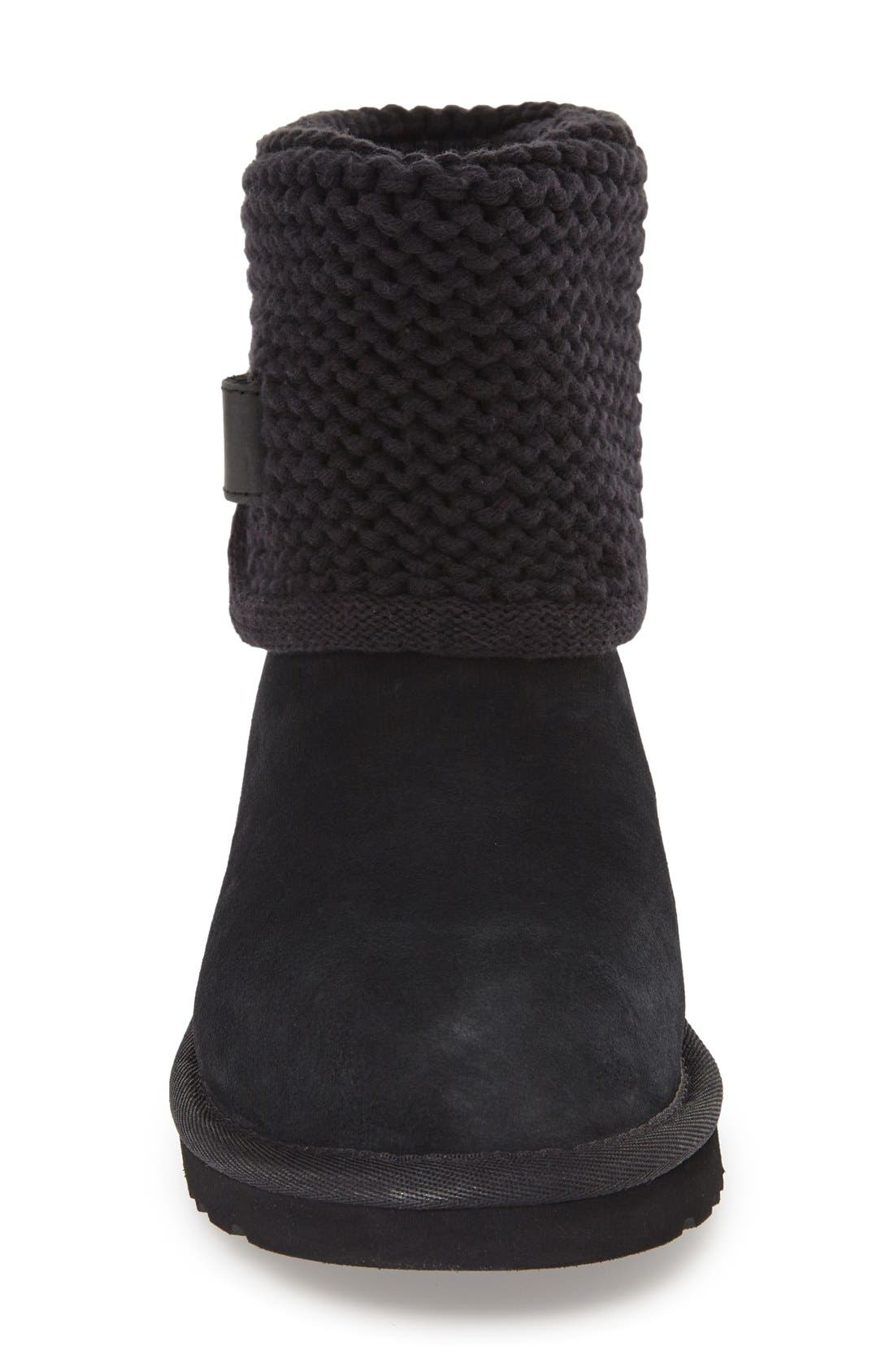 Shaina Knit Cuff Bootie,                             Alternate thumbnail 8, color,