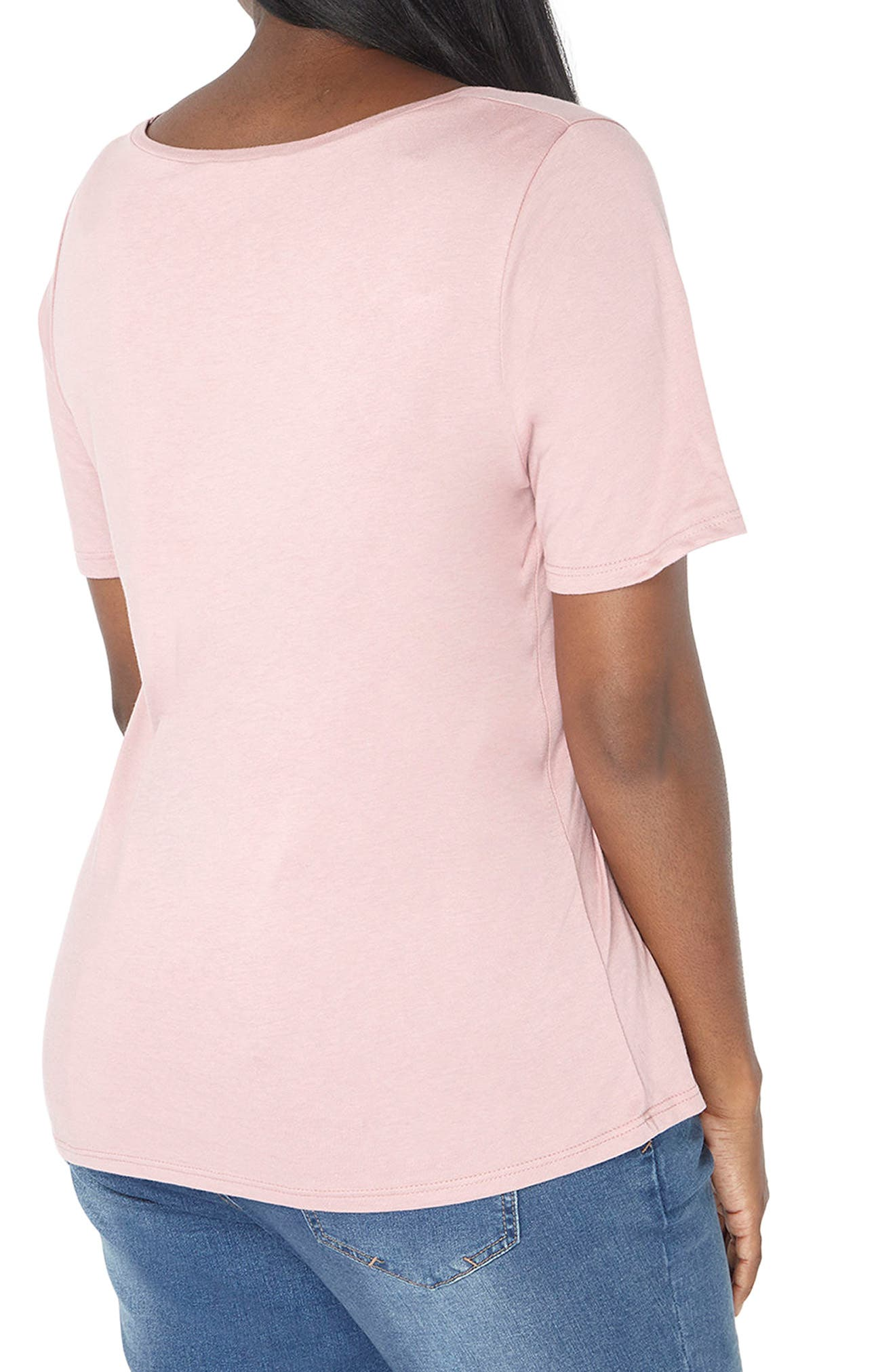 Floral Embroidered Tee,                             Alternate thumbnail 2, color,                             650