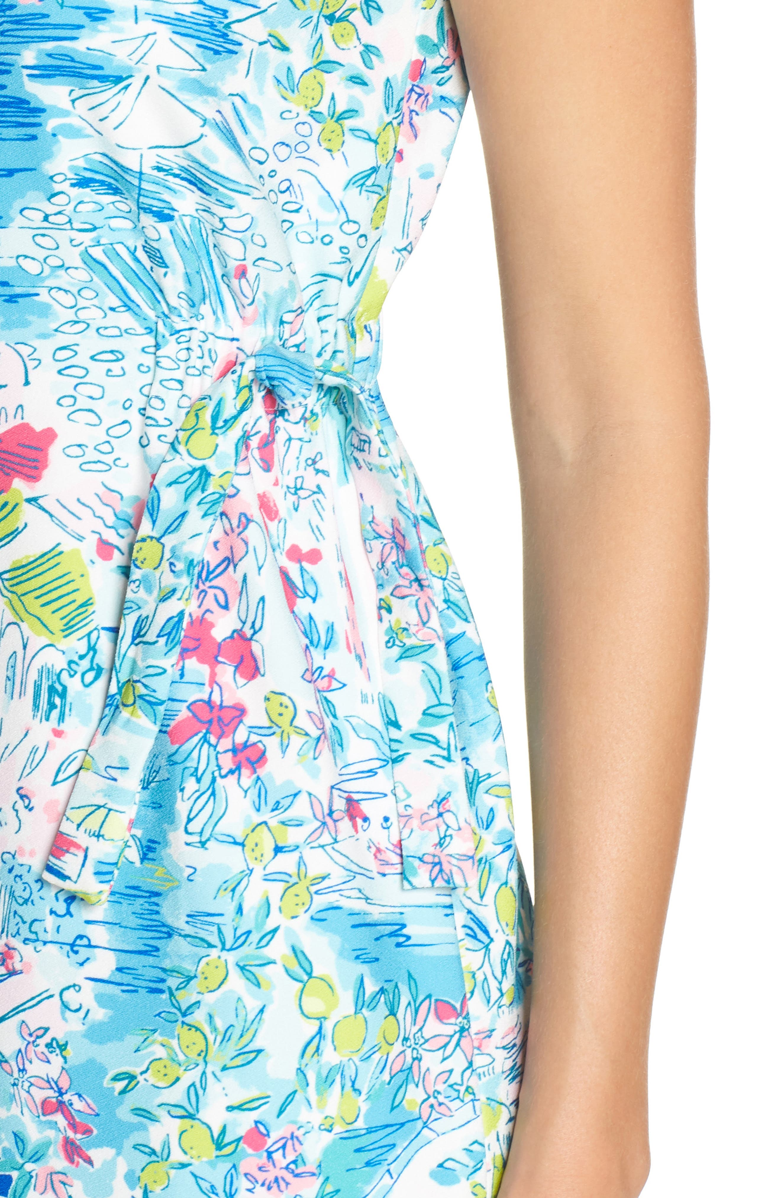 LILLY PULITZER<SUP>®</SUP>,                             Marli Stretch Shift Dress,                             Alternate thumbnail 4, color,                             MULTI POSTCARDS FROM POSITANO