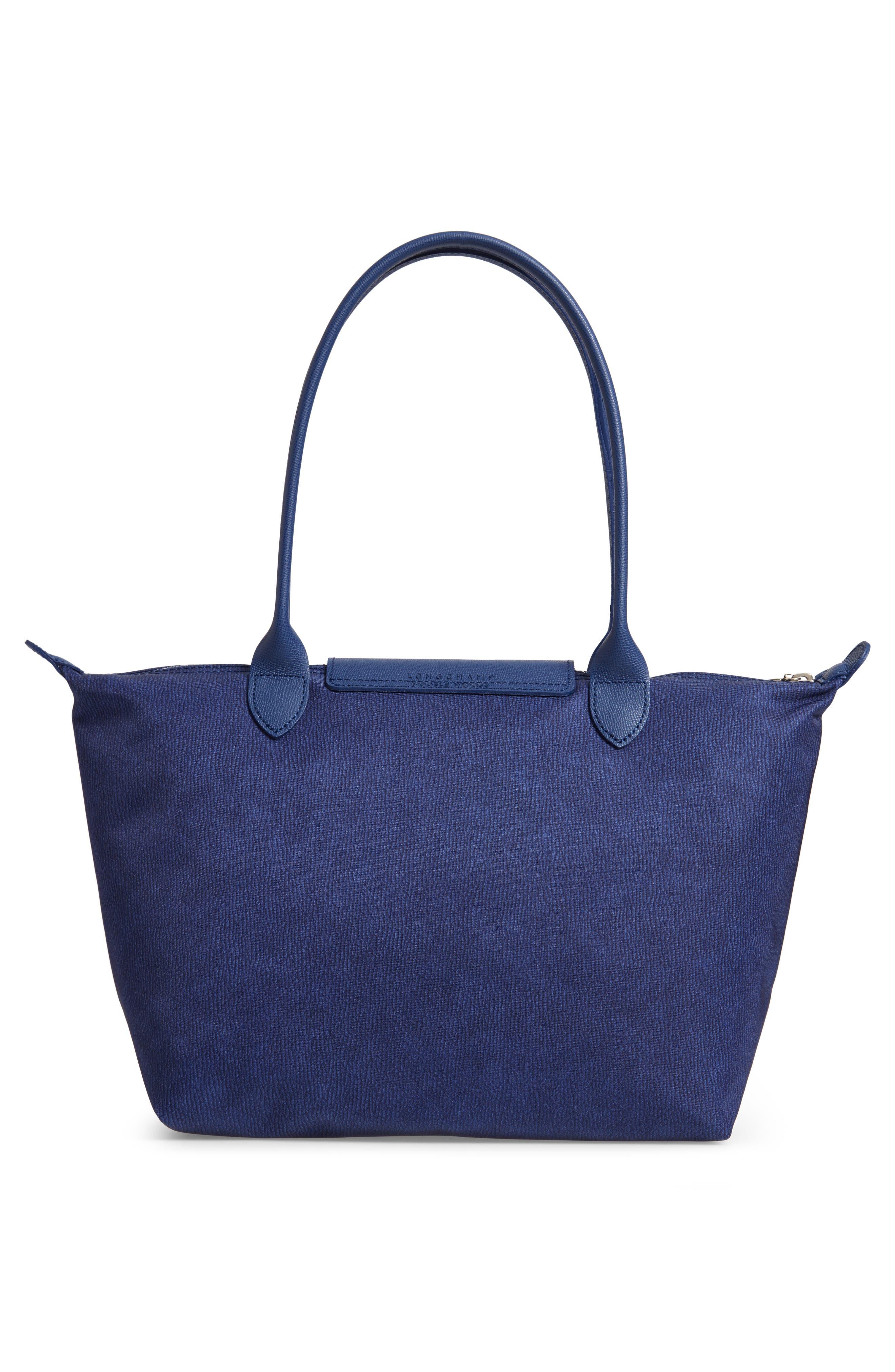 Le Pliage Jeans Small Shoulder Bag,                             Alternate thumbnail 3, color,                             DENIM