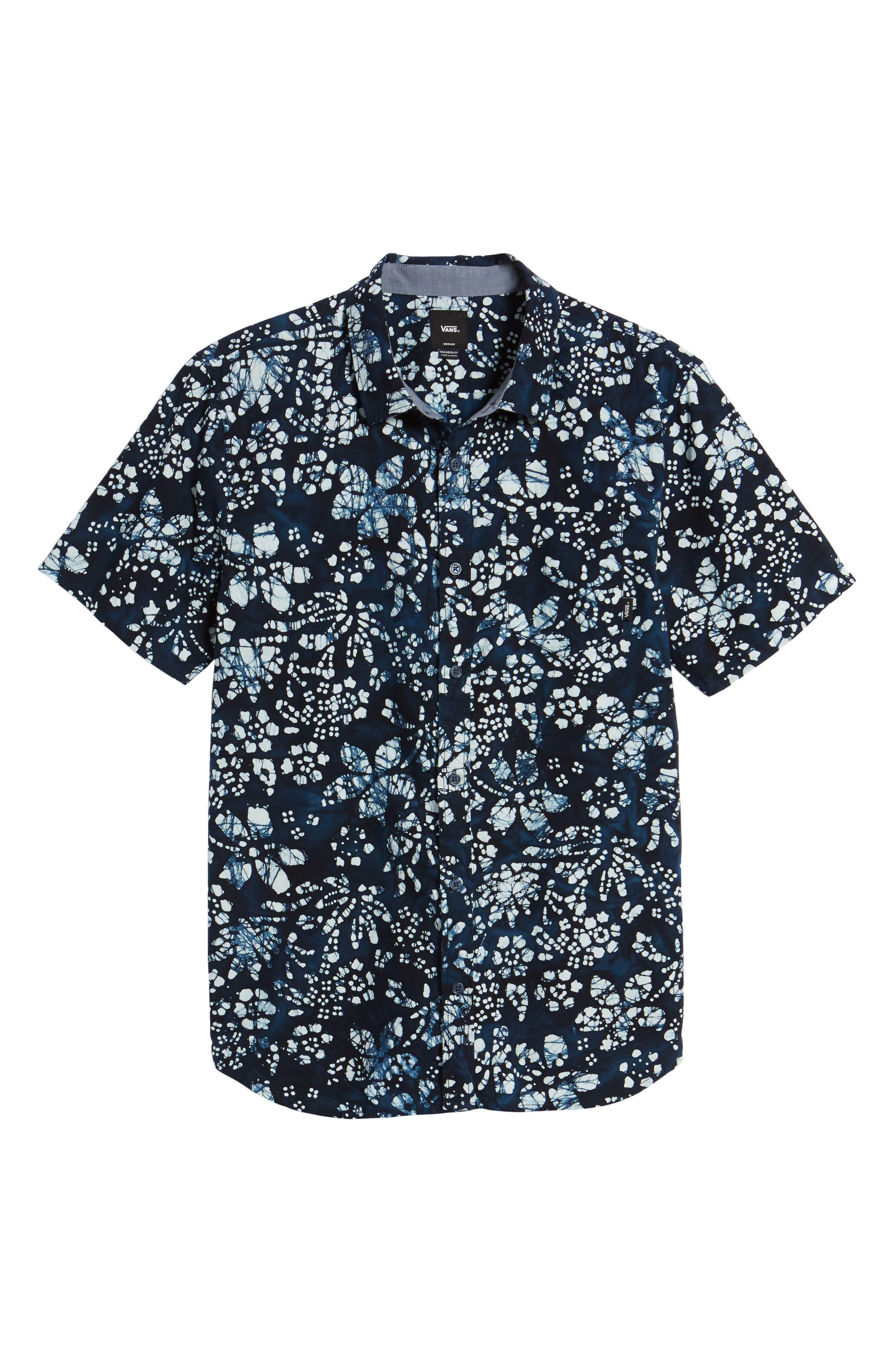Trippin Batik Woven Shirt,                             Alternate thumbnail 6, color,                             400