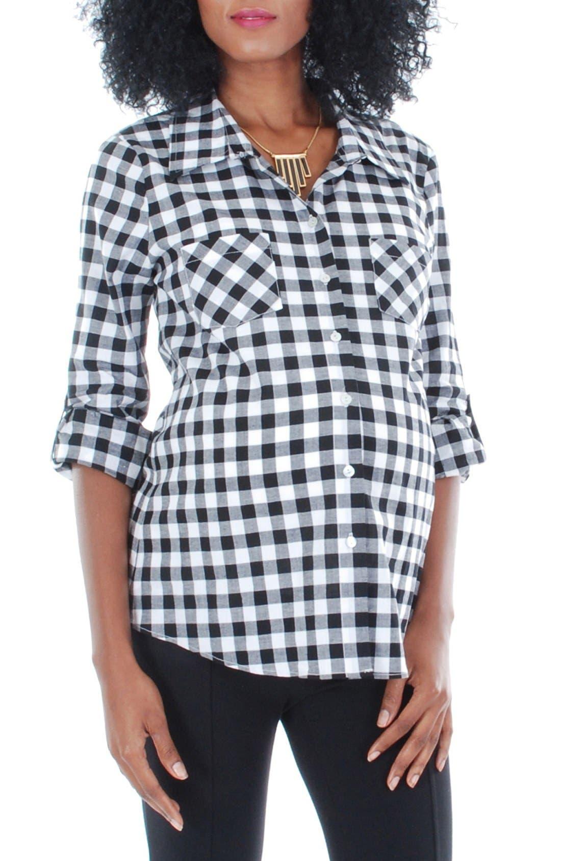 'Batina' Maternity Shirt,                         Main,                         color, 004