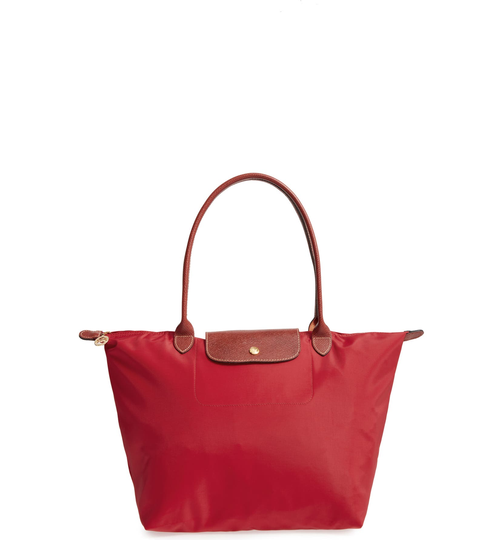 'Large Le Pliage' Tote,                         Main,                         color, DEEP RED