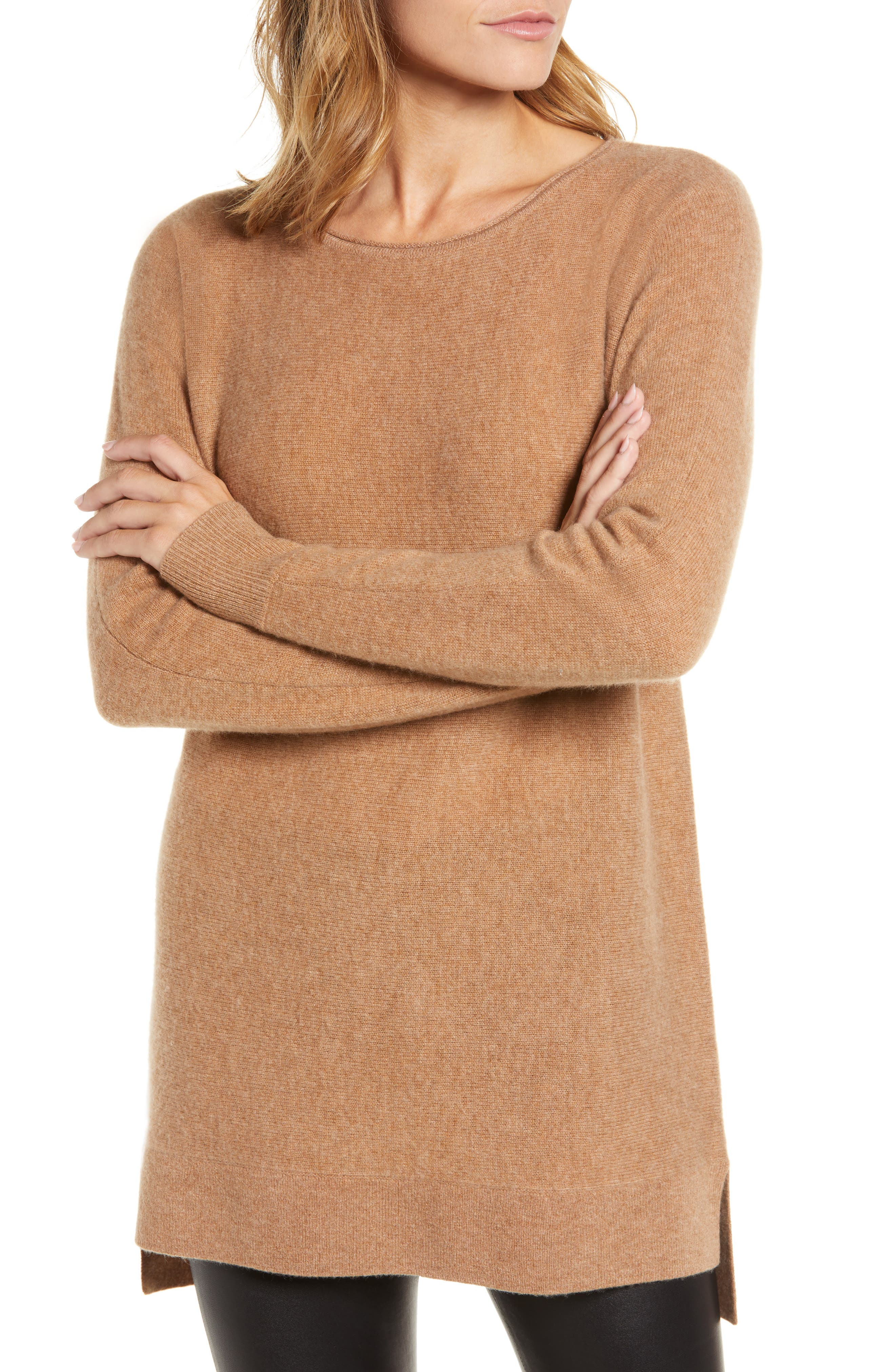 High/Low Wool & Cashmere Tunic Sweater,                             Alternate thumbnail 22, color,
